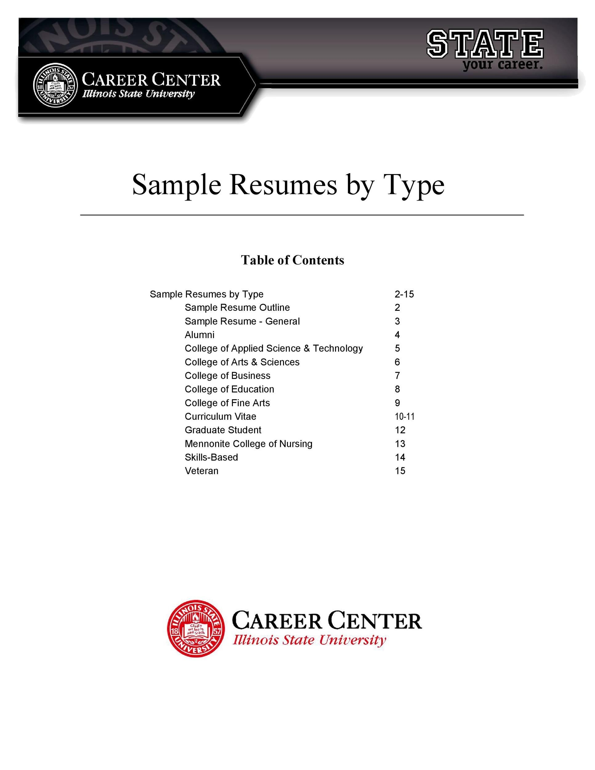 Free college resume template 22