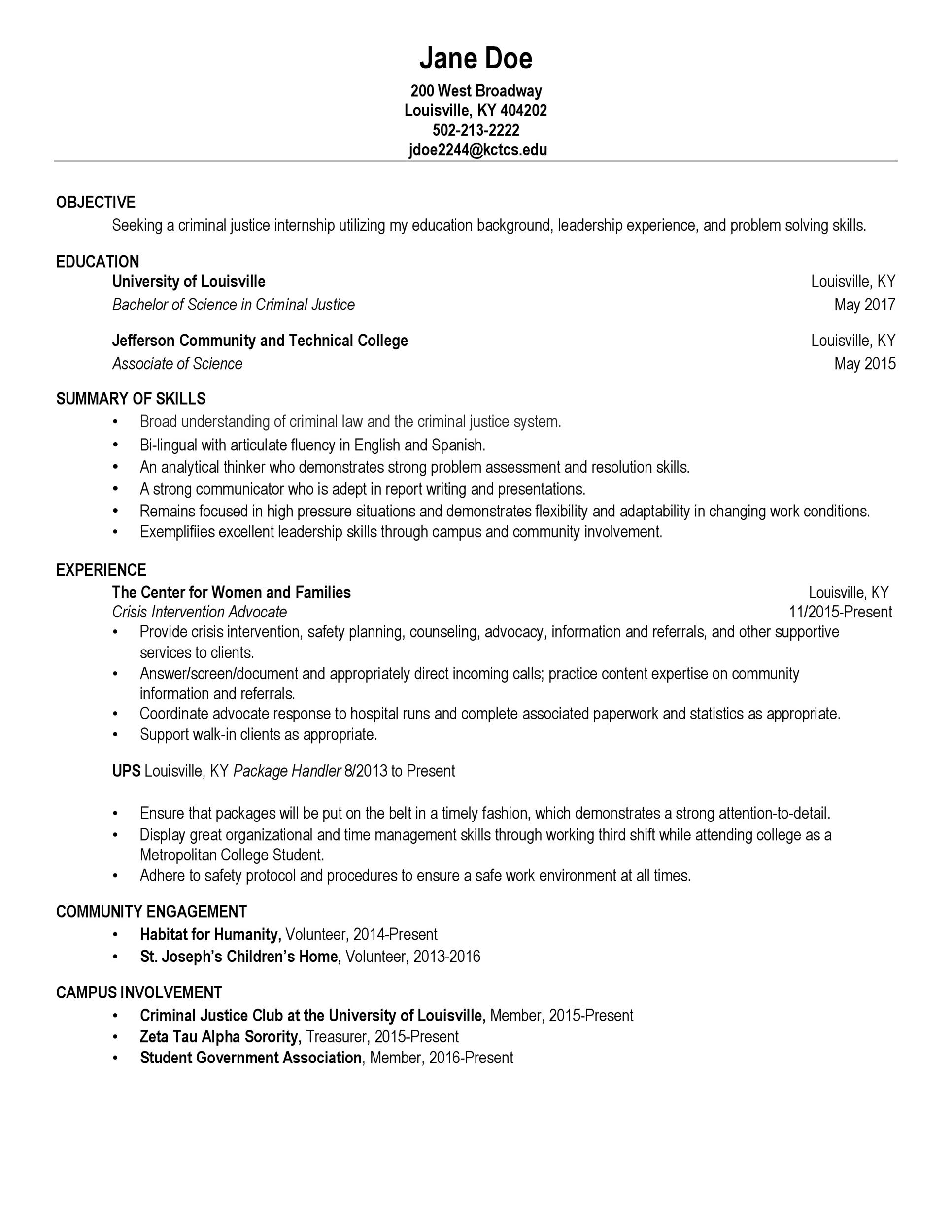 Free college resume template 32