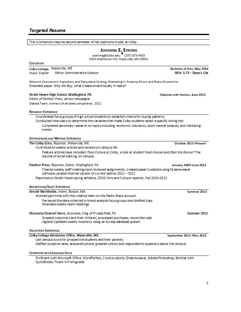 Free college resume template 37