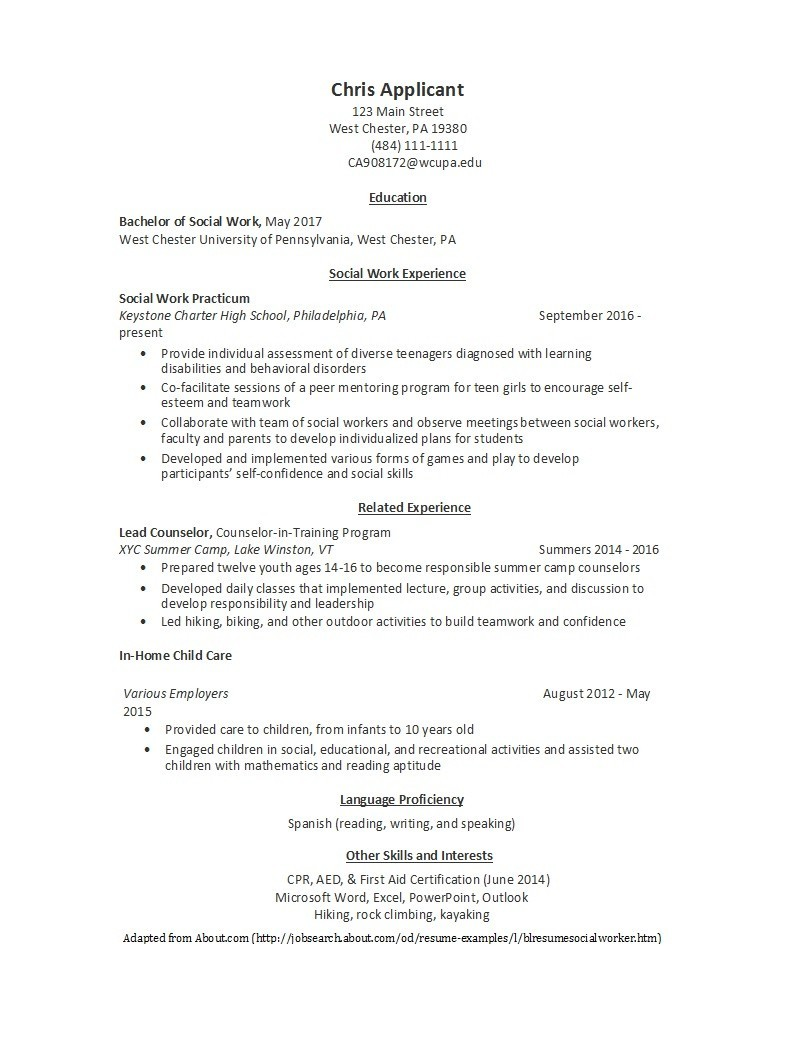 Free college resume template 39