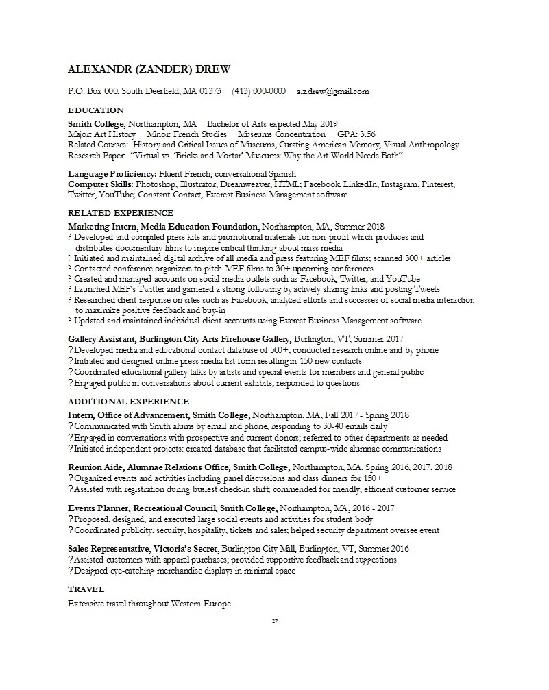 Free college resume template 47