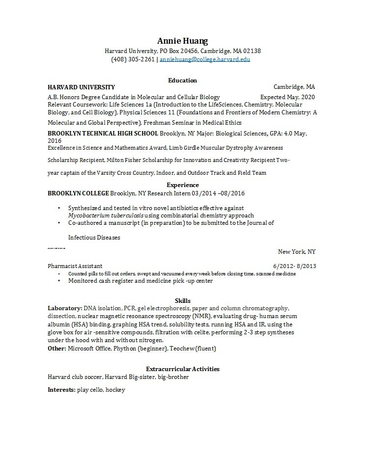 Free college resume template 49