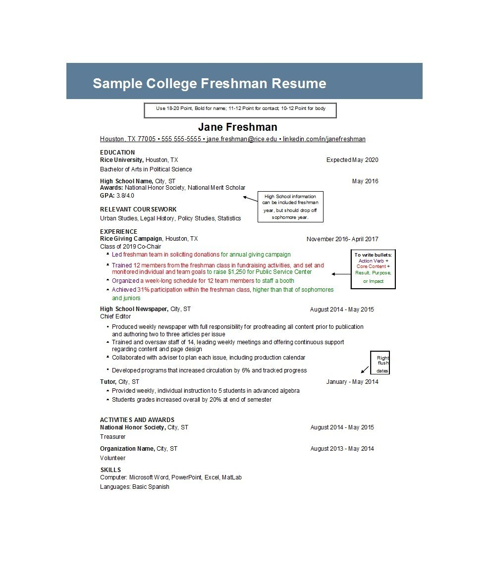 Free college resume template 50