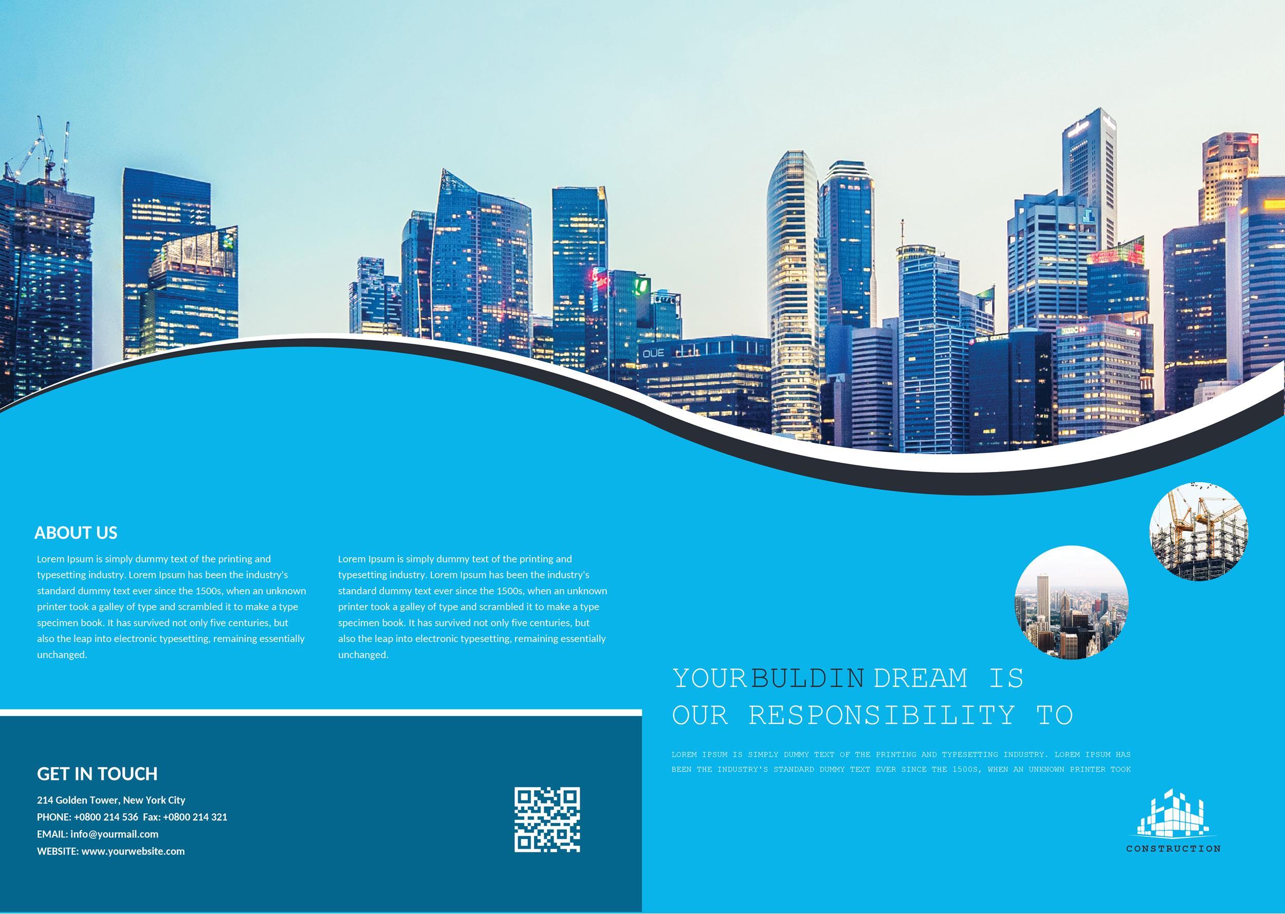 Free company brochure template 01