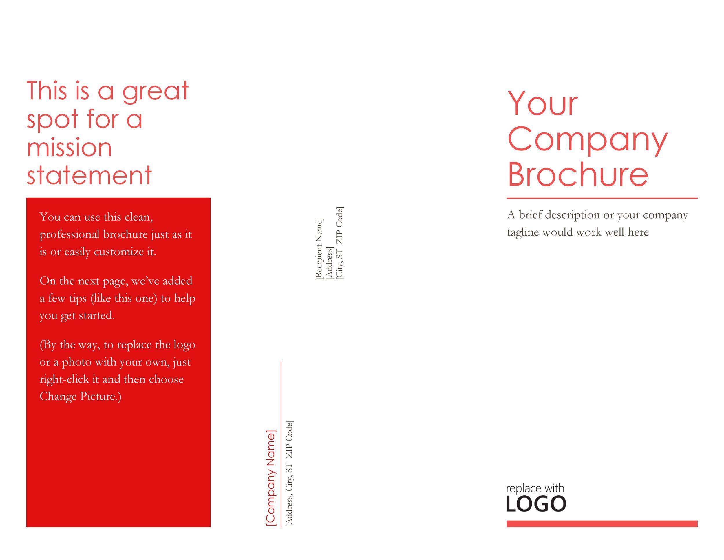 Free company brochure template 04