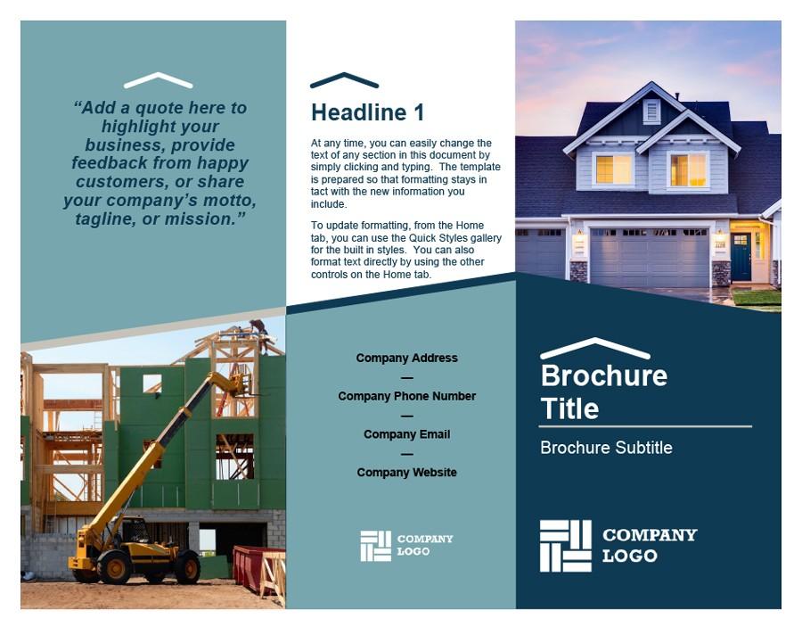 Free company brochure template 05