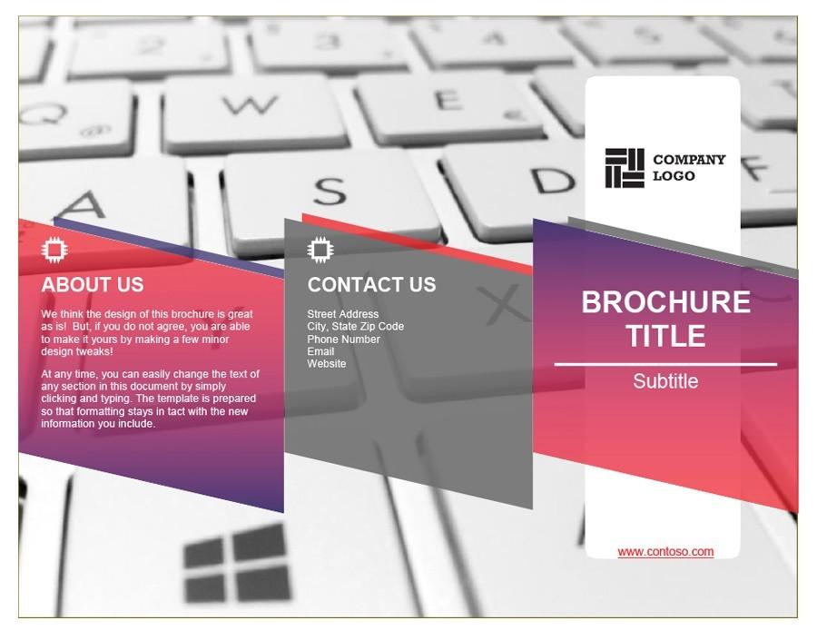 Free company brochure template 06