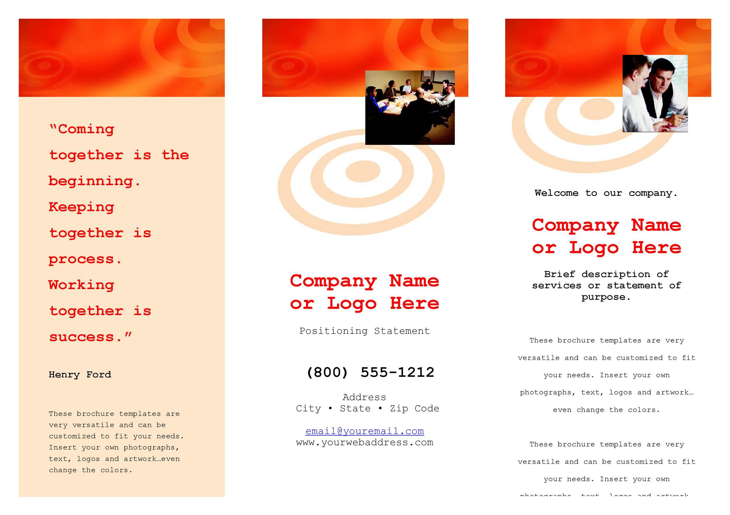 Free company brochure template 08
