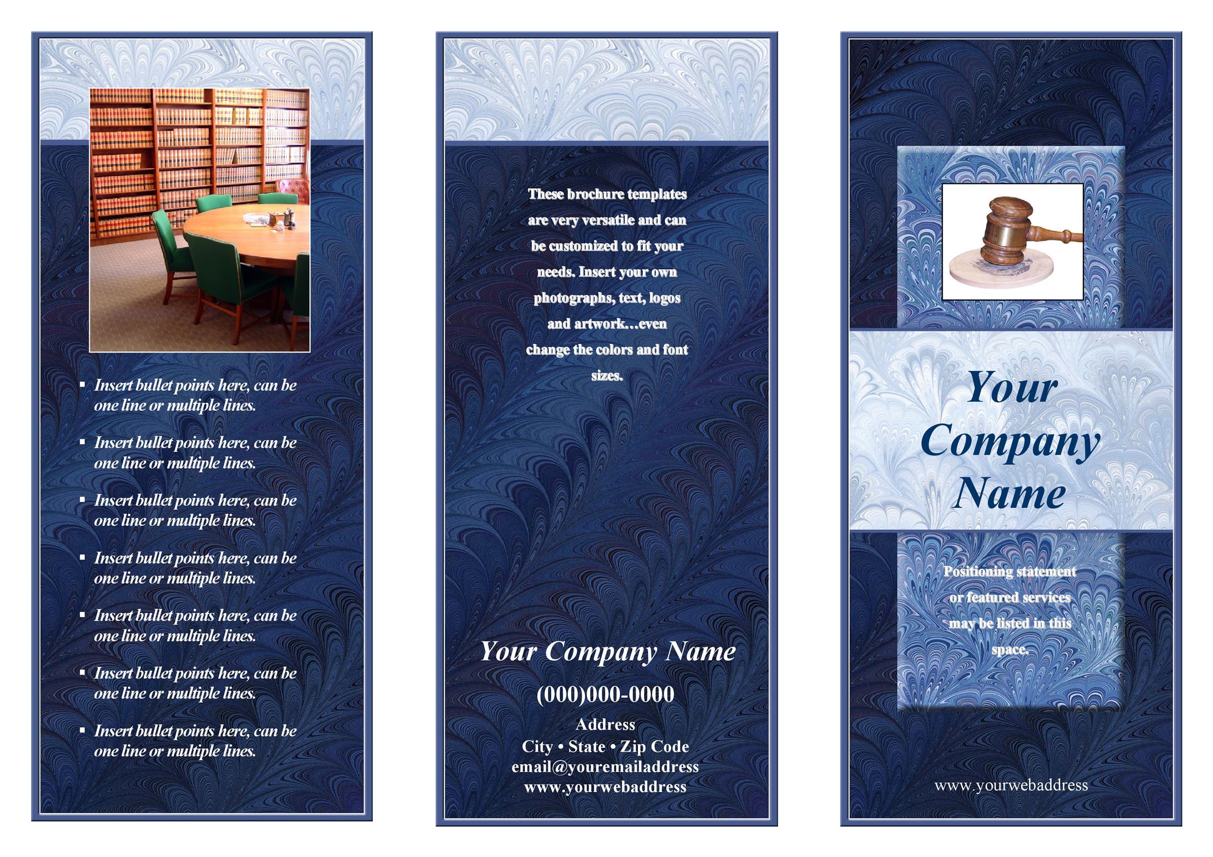 Free company brochure template 09