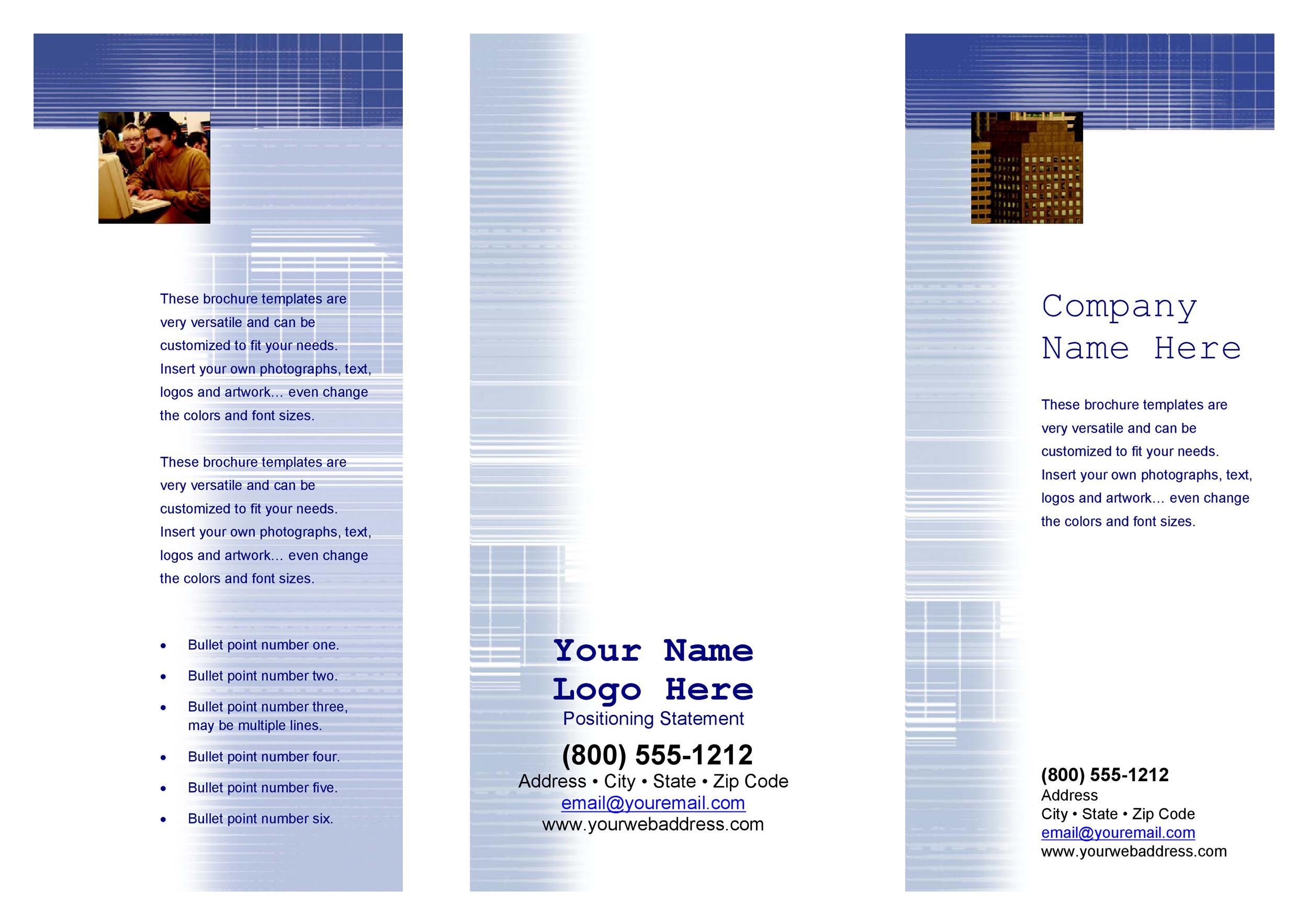 Free company brochure template 10