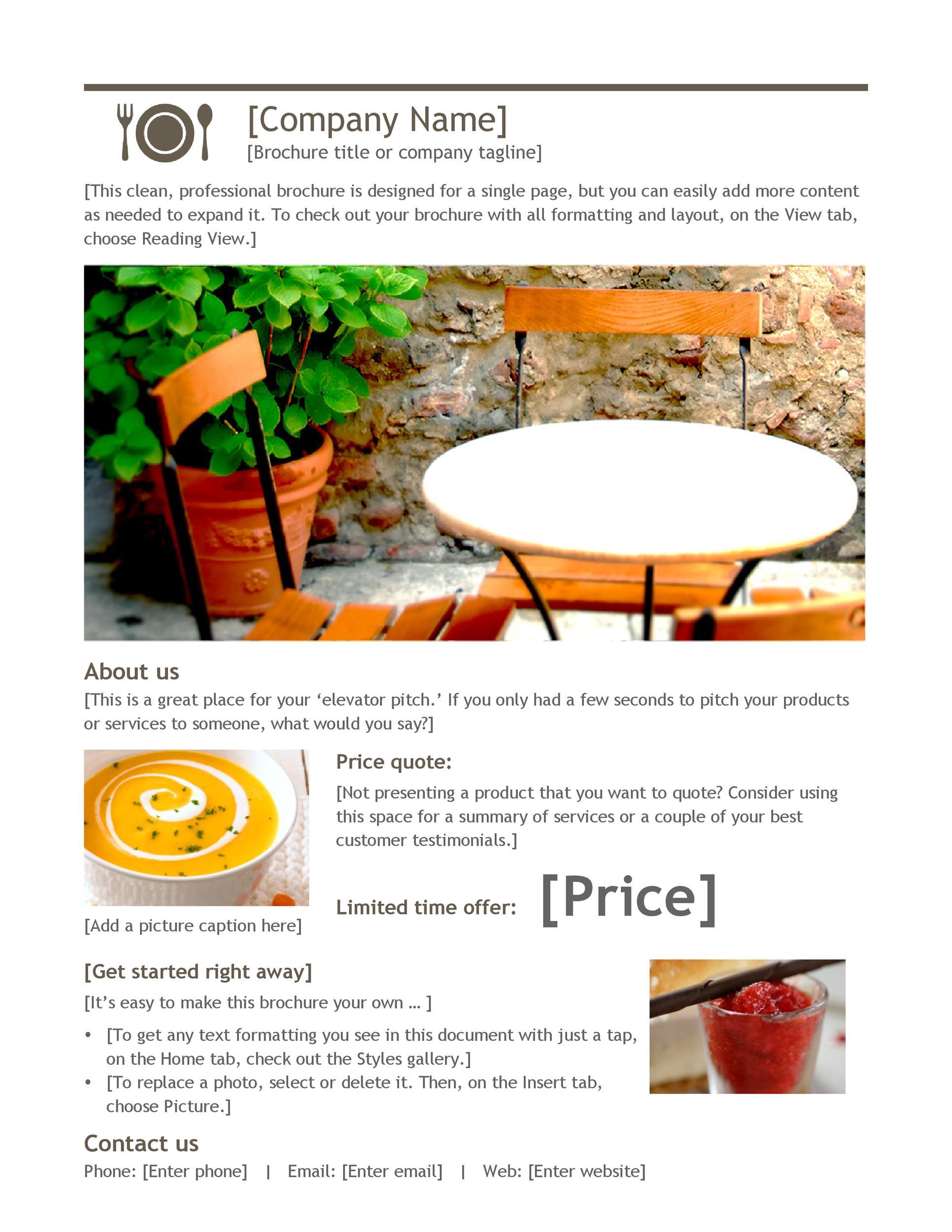 Free company brochure template 11