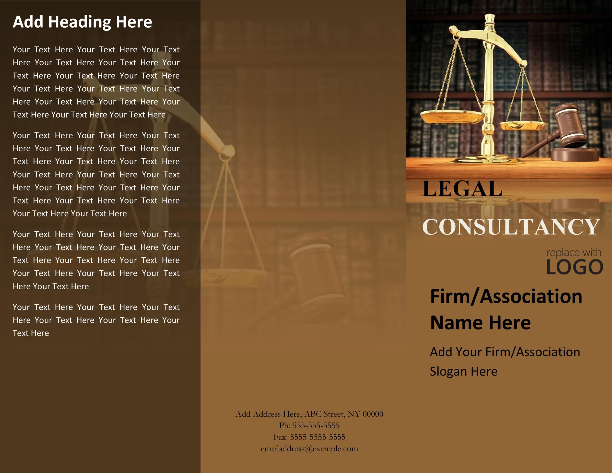 Free company brochure template 12