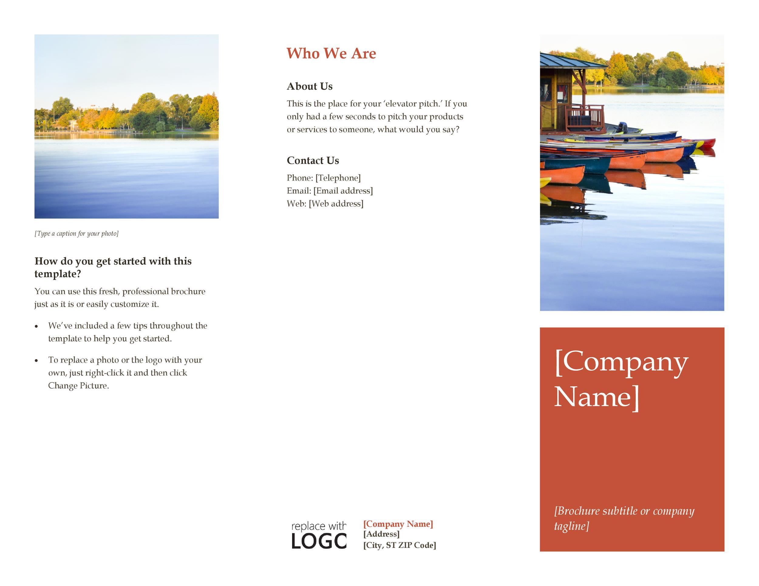 Free company brochure template 13