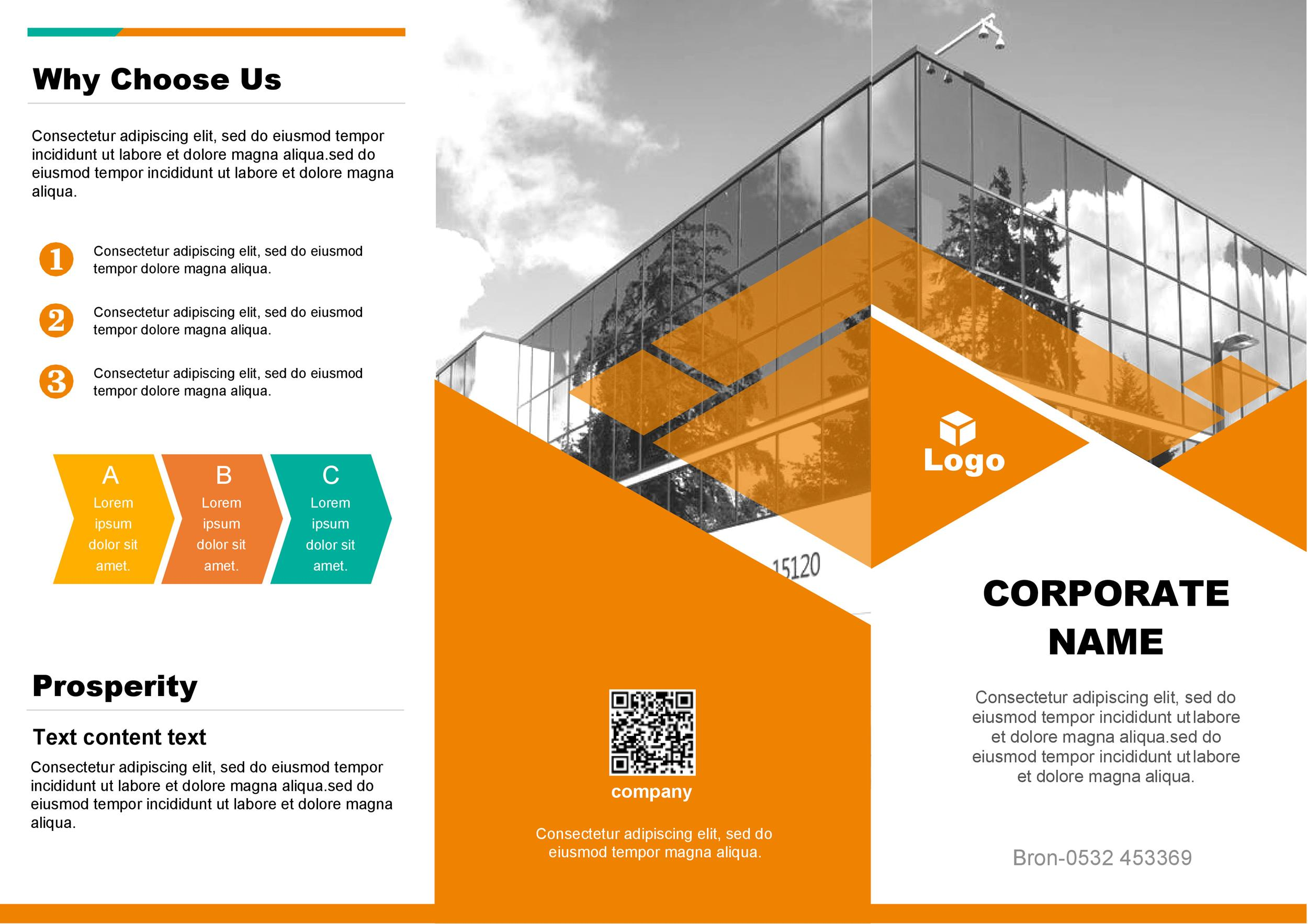 Free company brochure template 14