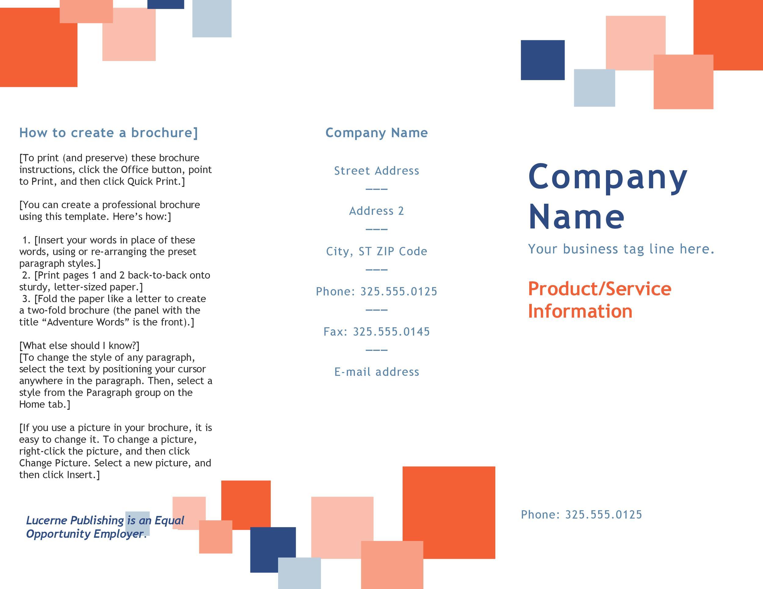Free company brochure template 15