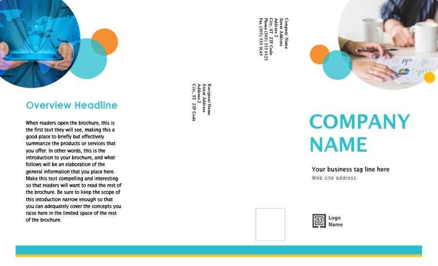 Free company brochure template 16