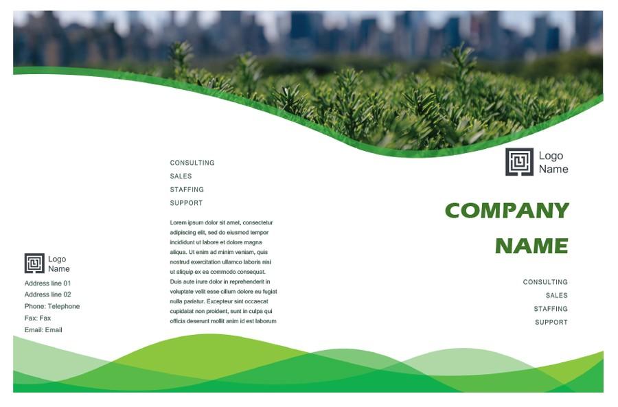 Free company brochure template 17