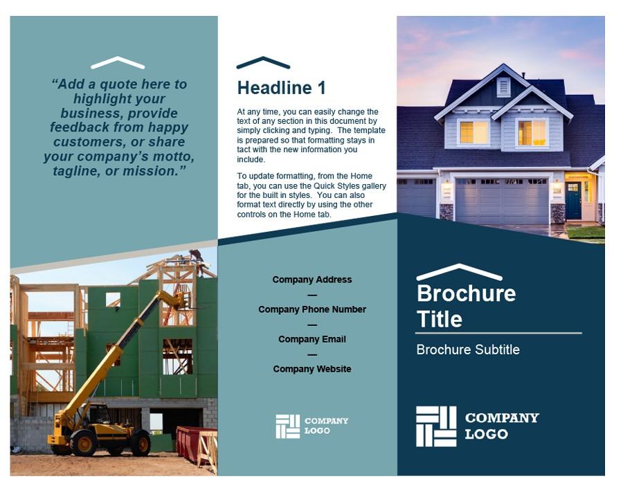 Free company brochure template 18
