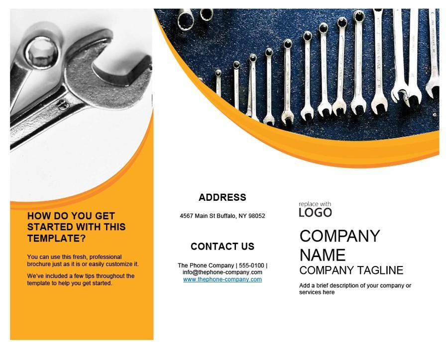 Free company brochure template 19