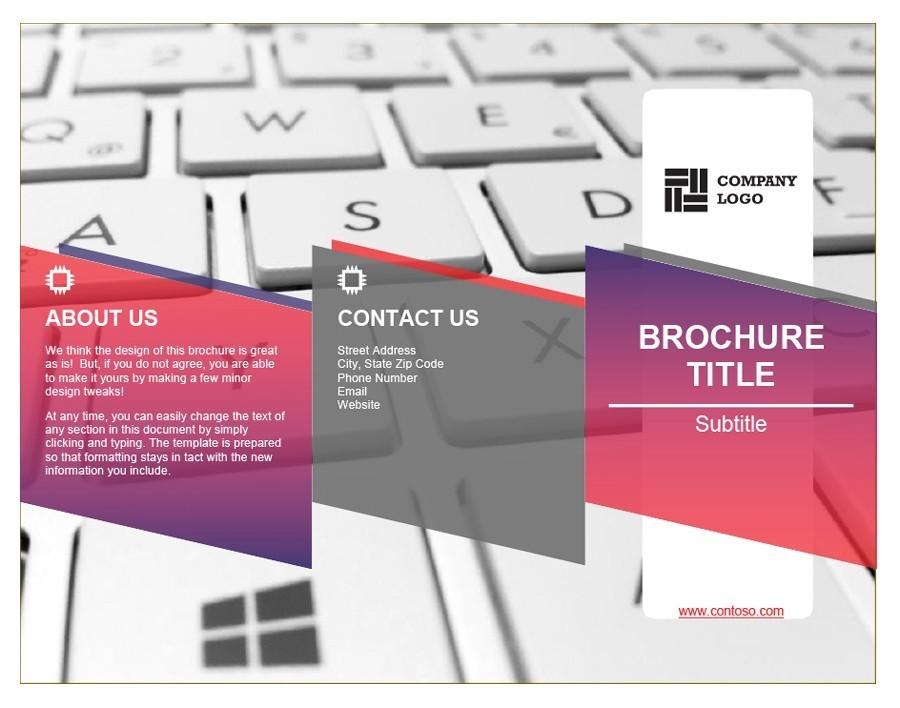 Free company brochure template 20