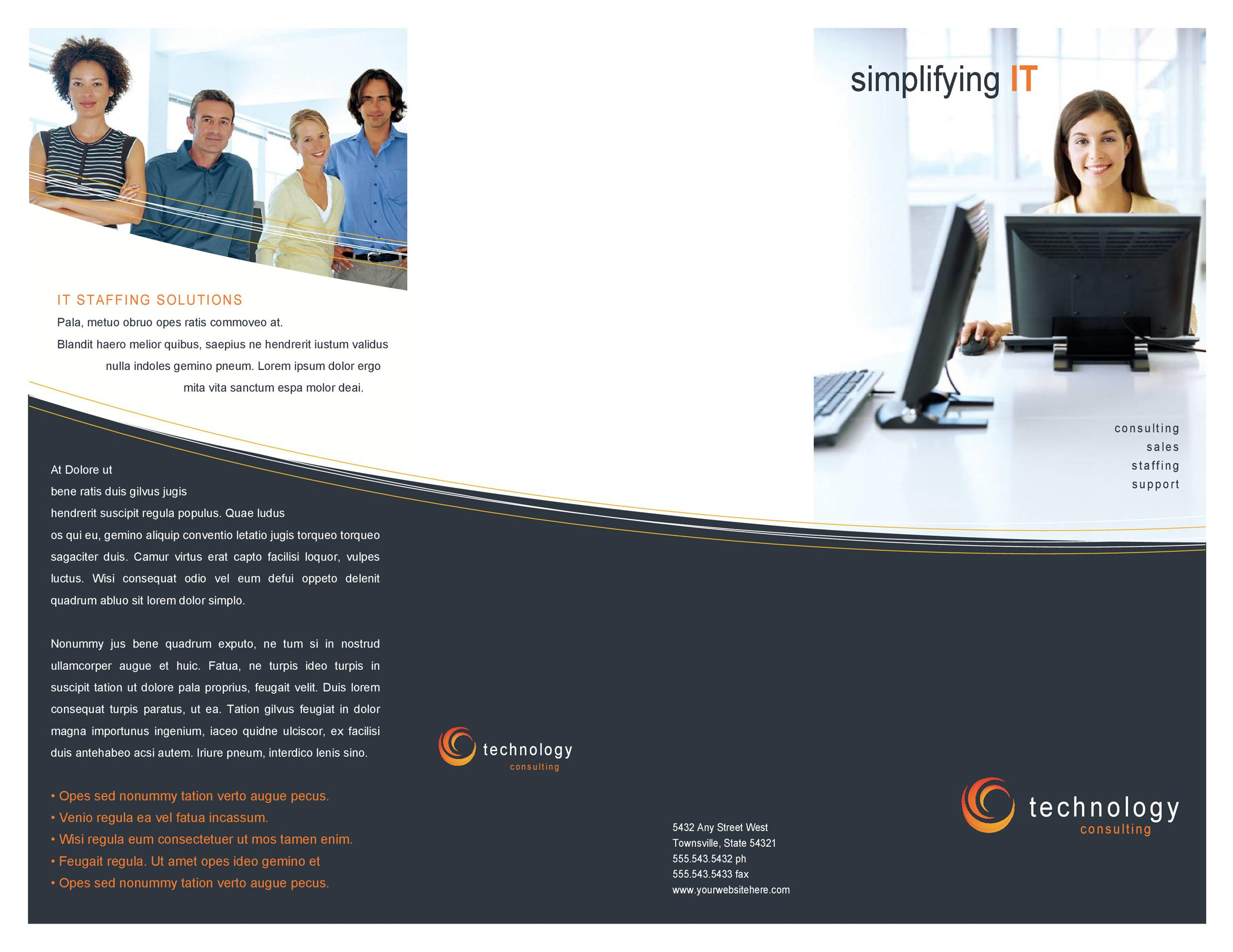 Free company brochure template 21