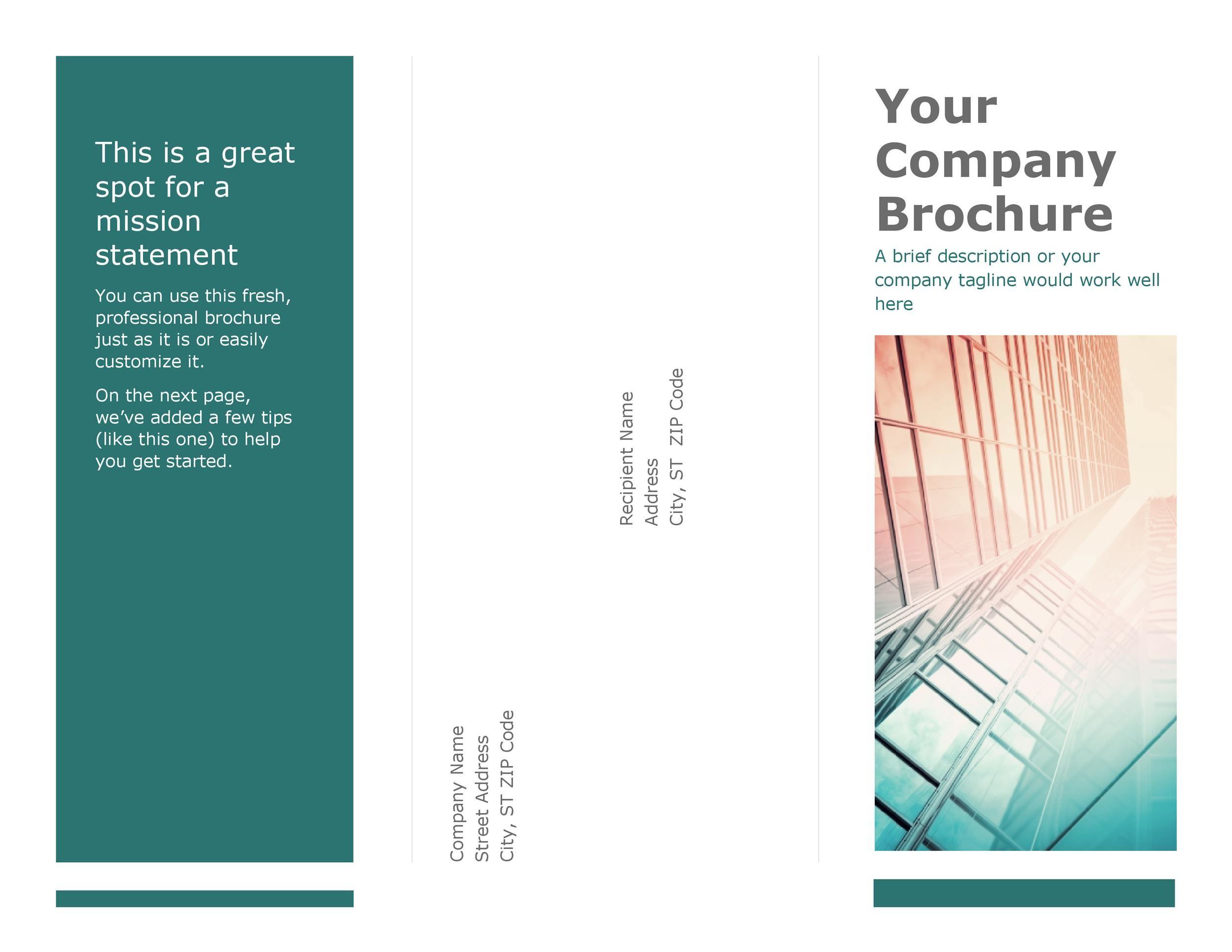 Free company brochure template 26