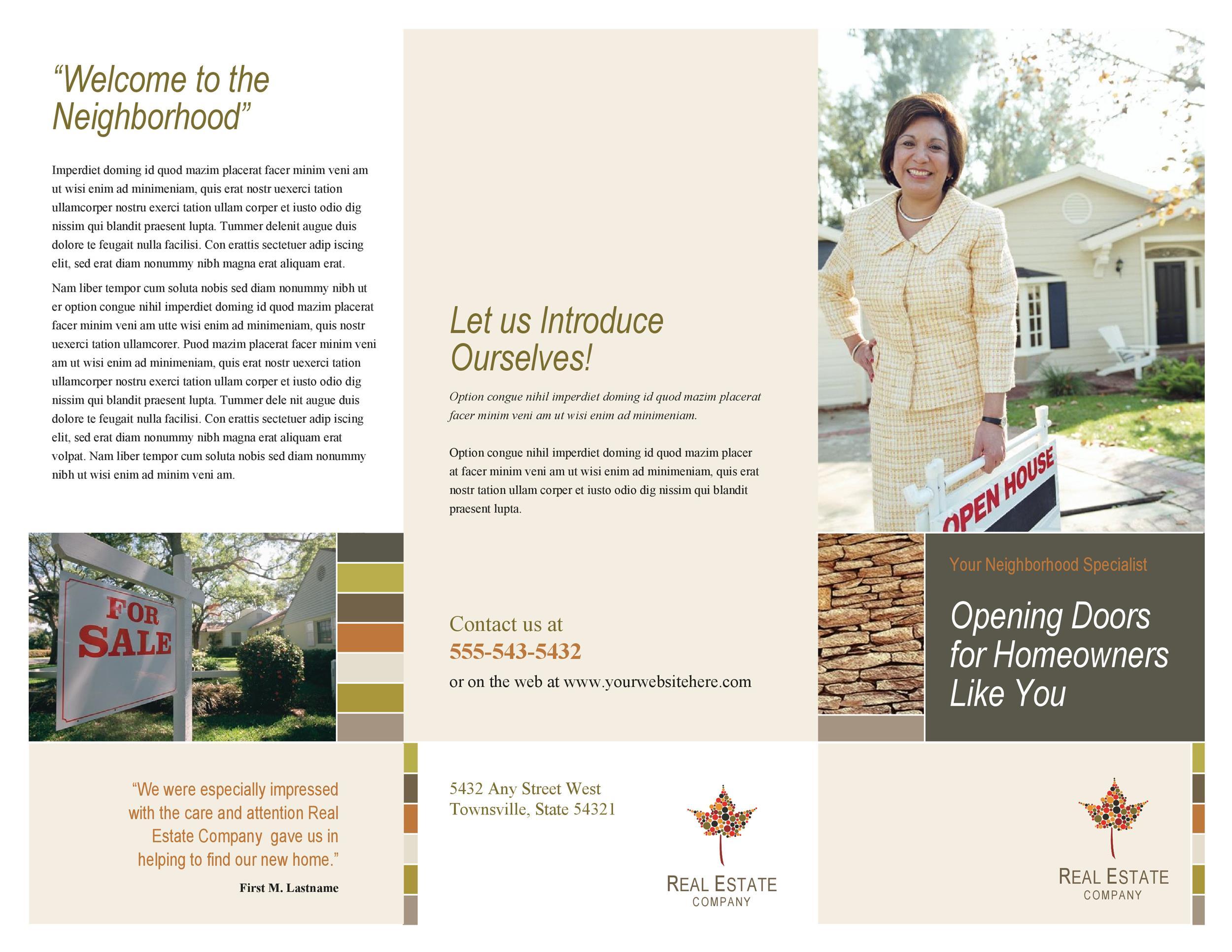 Free company brochure template 27