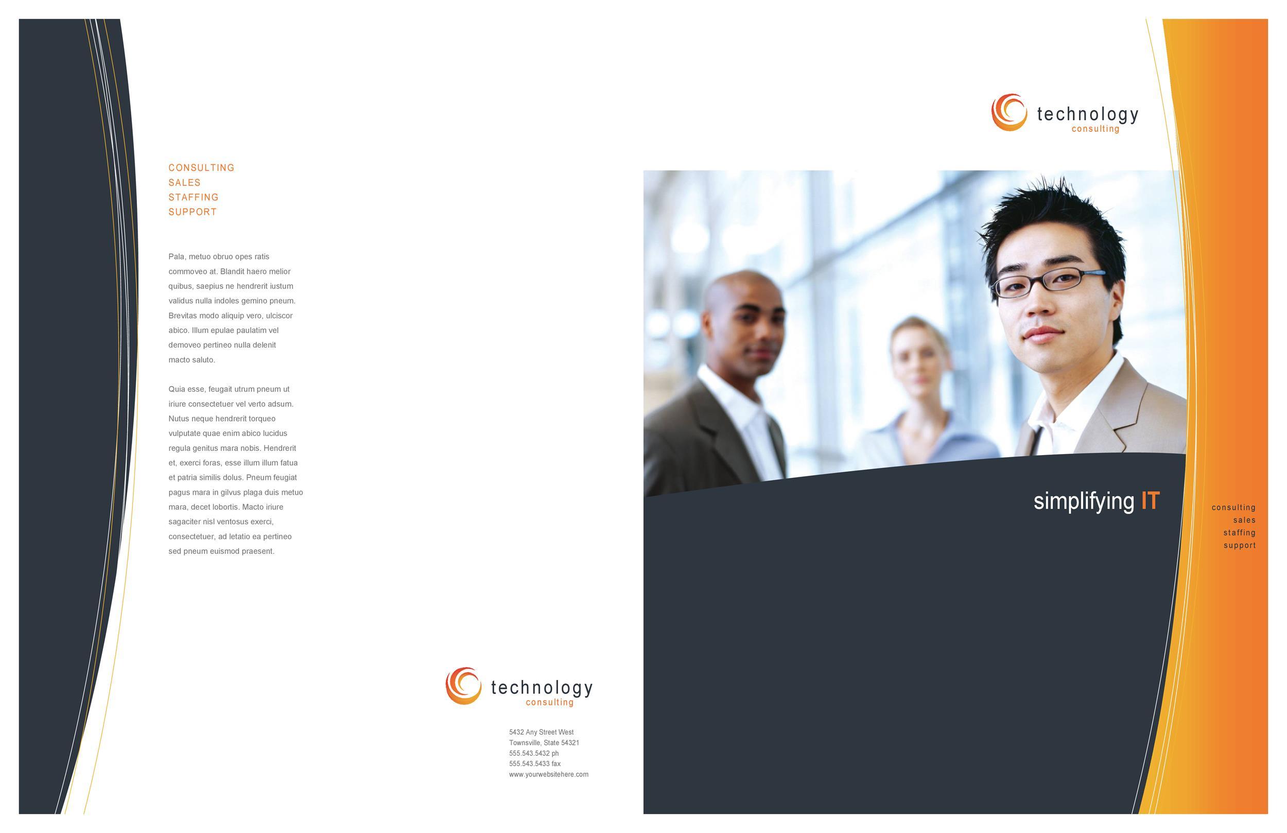Free company brochure template 28