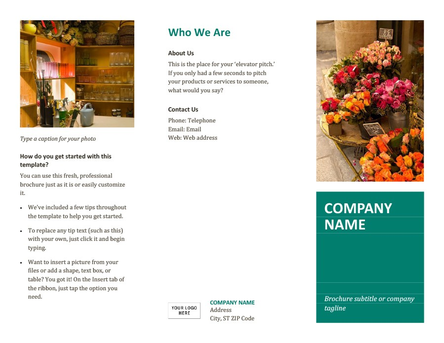 Free company brochure template 29