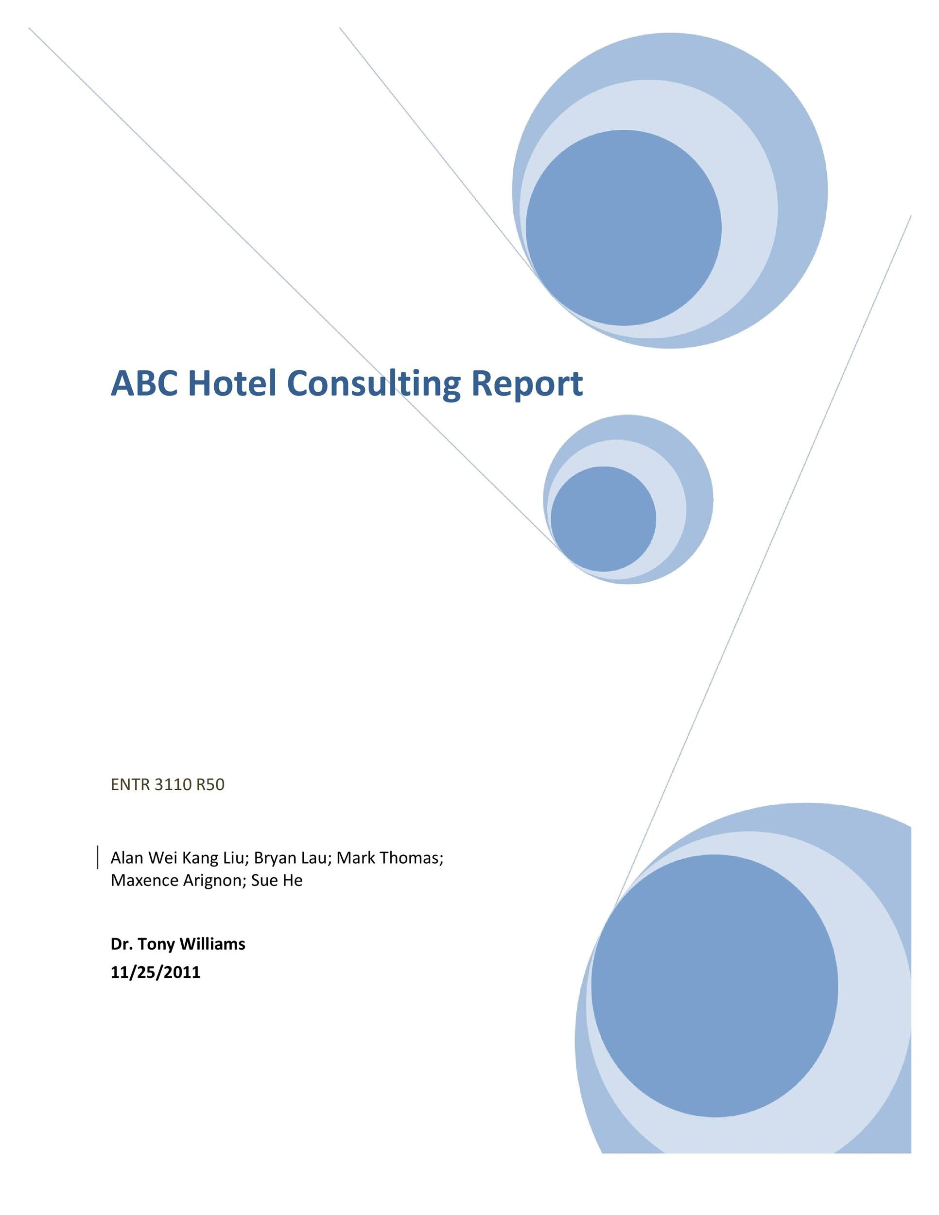 Free consulting report template 03