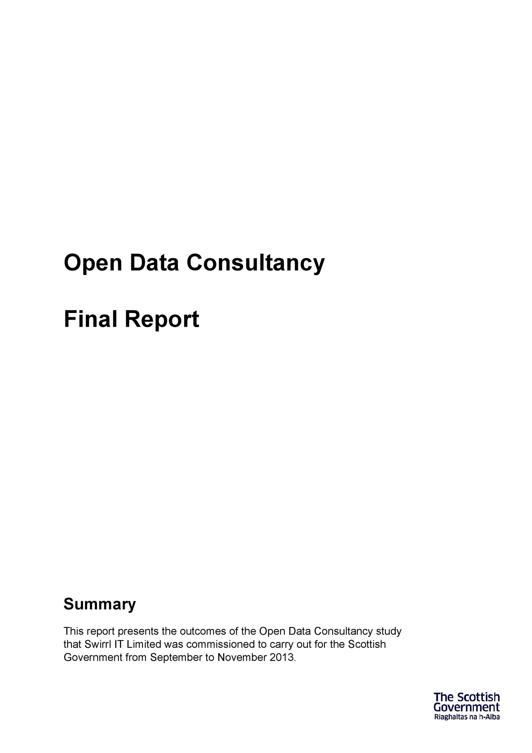 Free consulting report template 27