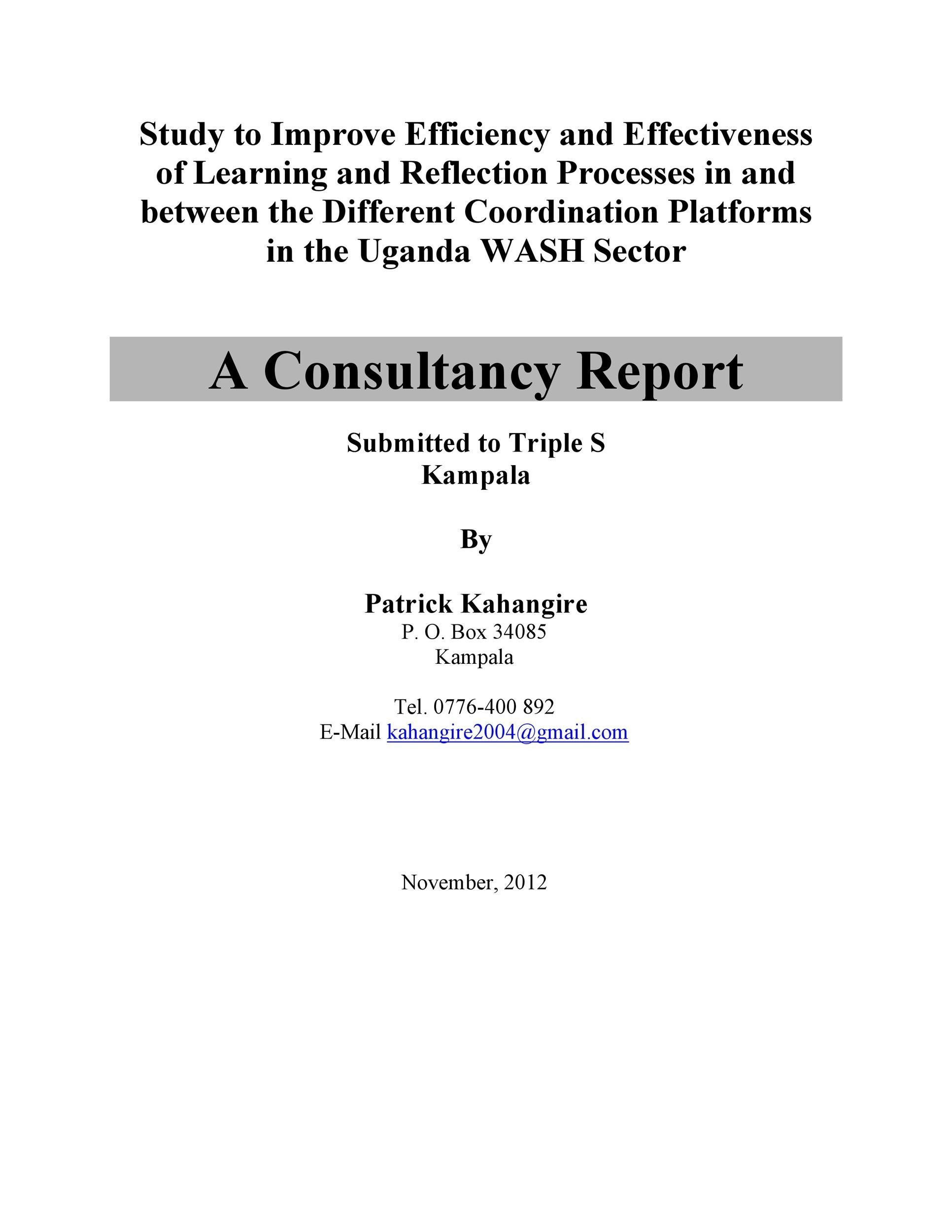 Free consulting report template 29