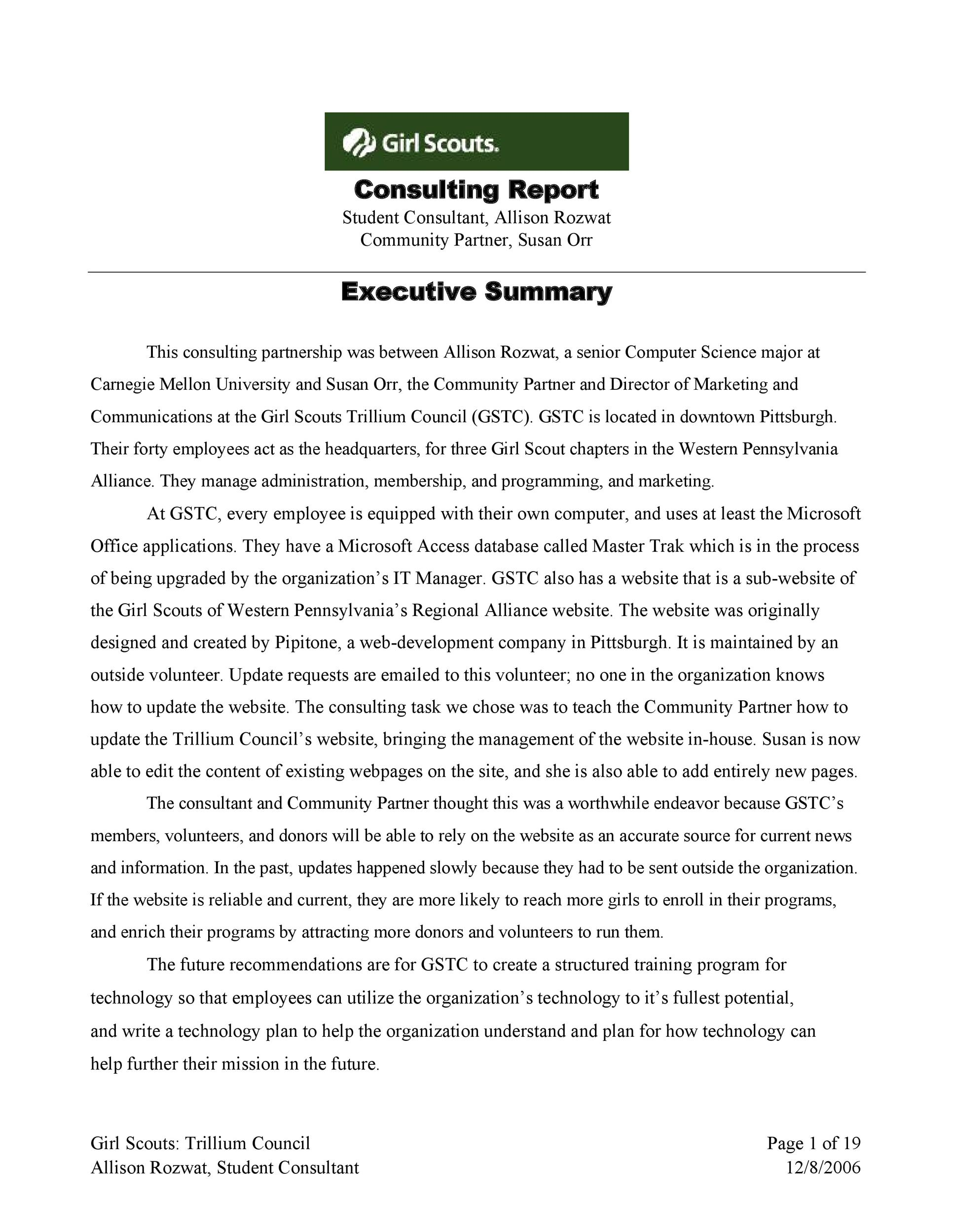 Free consulting report template 34