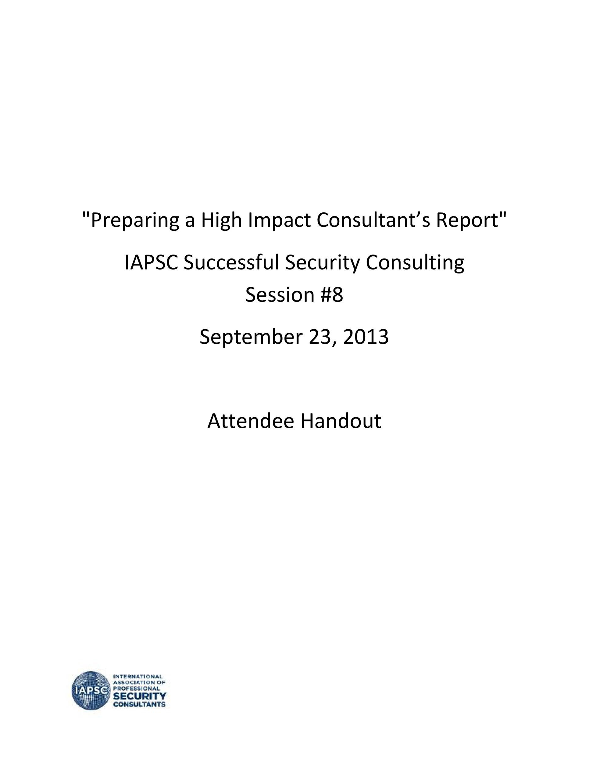 Free consulting report template 42