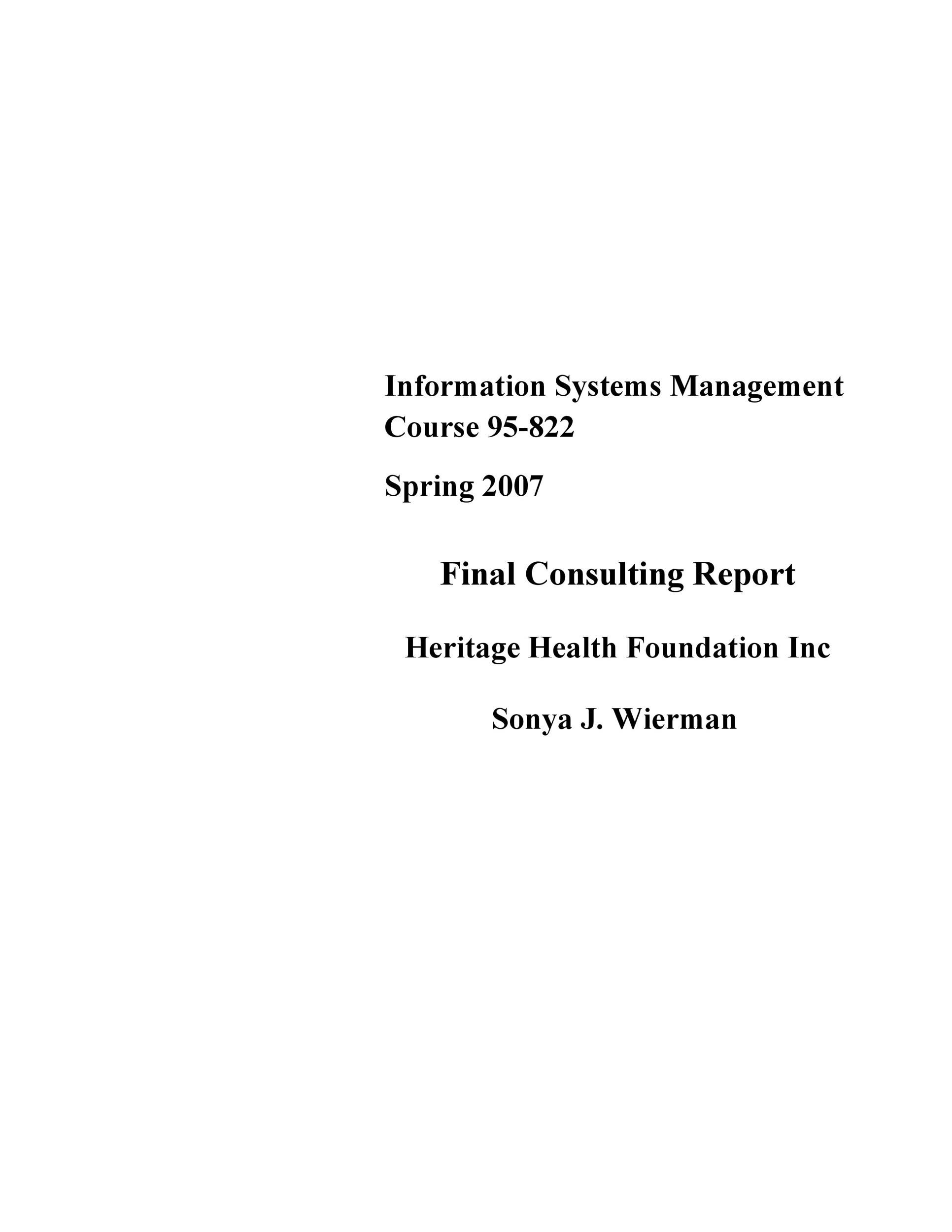 Free consulting report template 43
