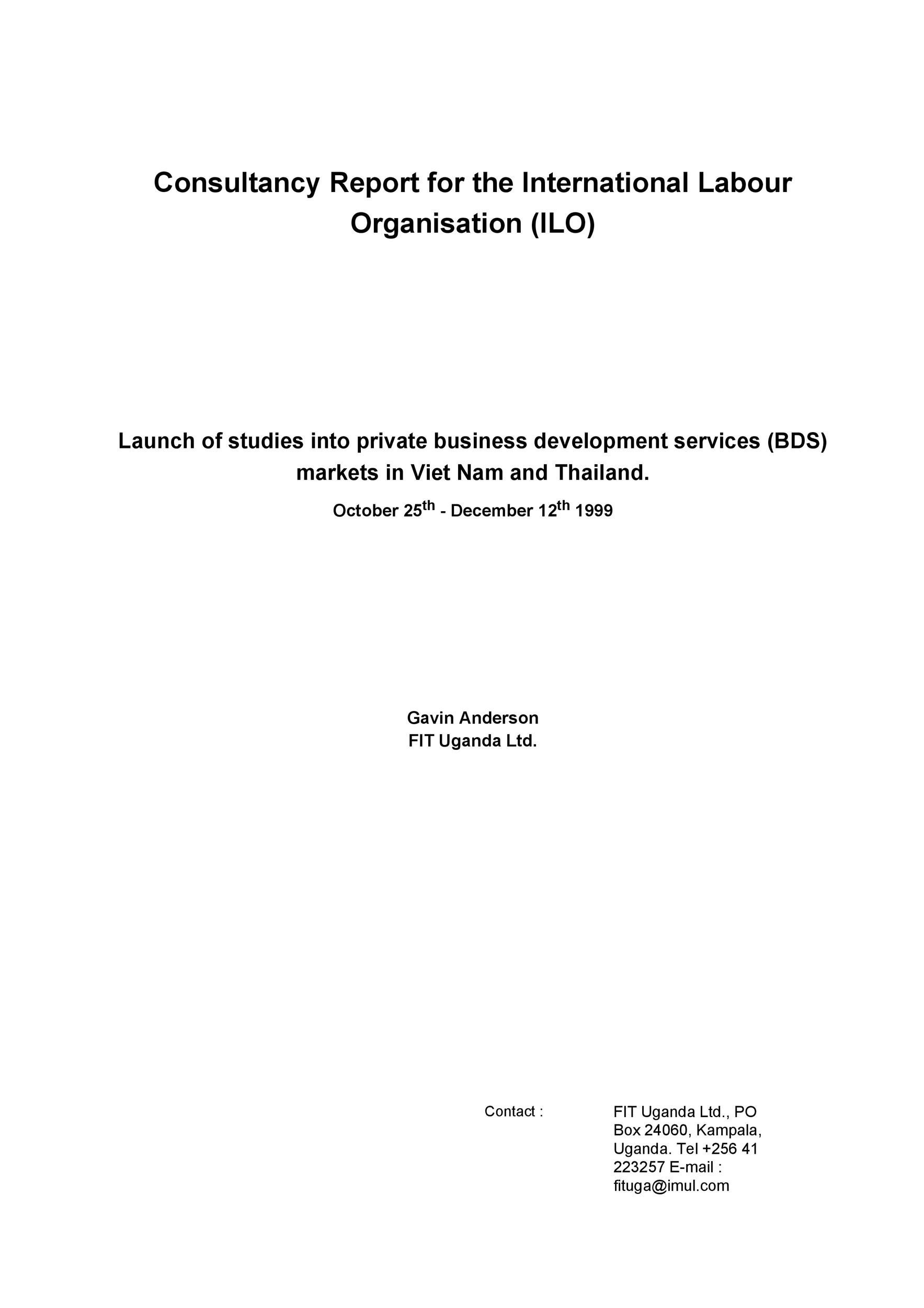 Free consulting report template 47