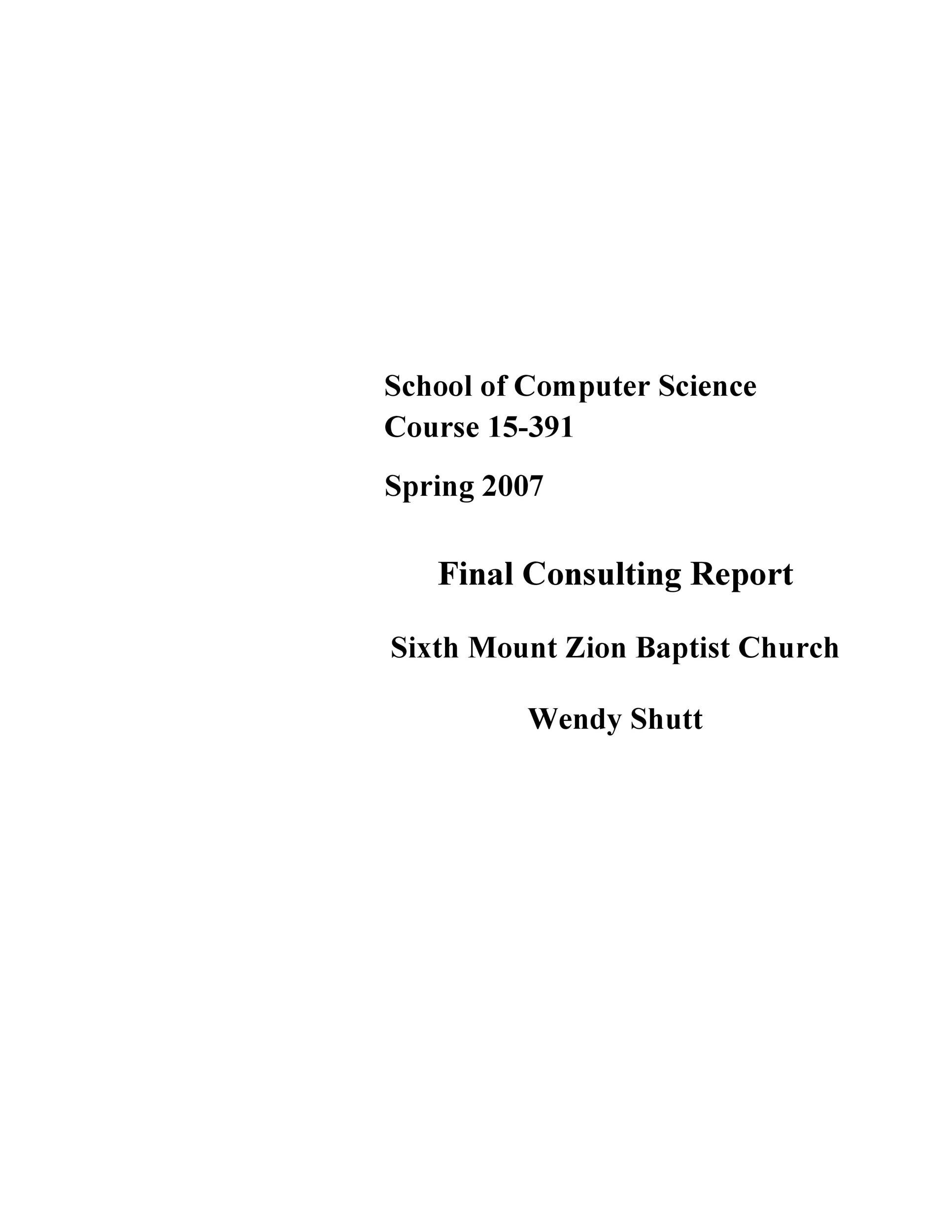 Free consulting report template 50