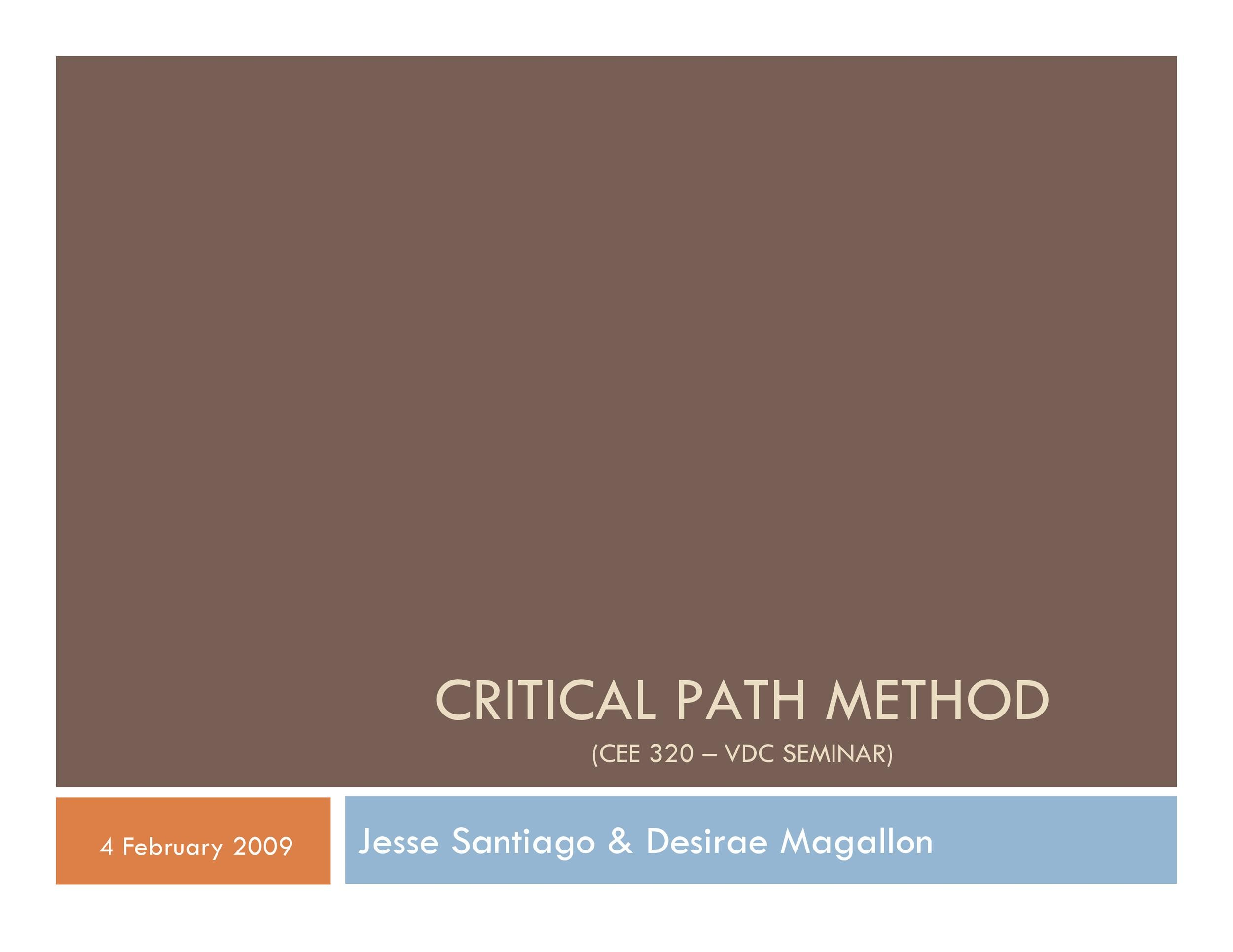 Free critical path template 14