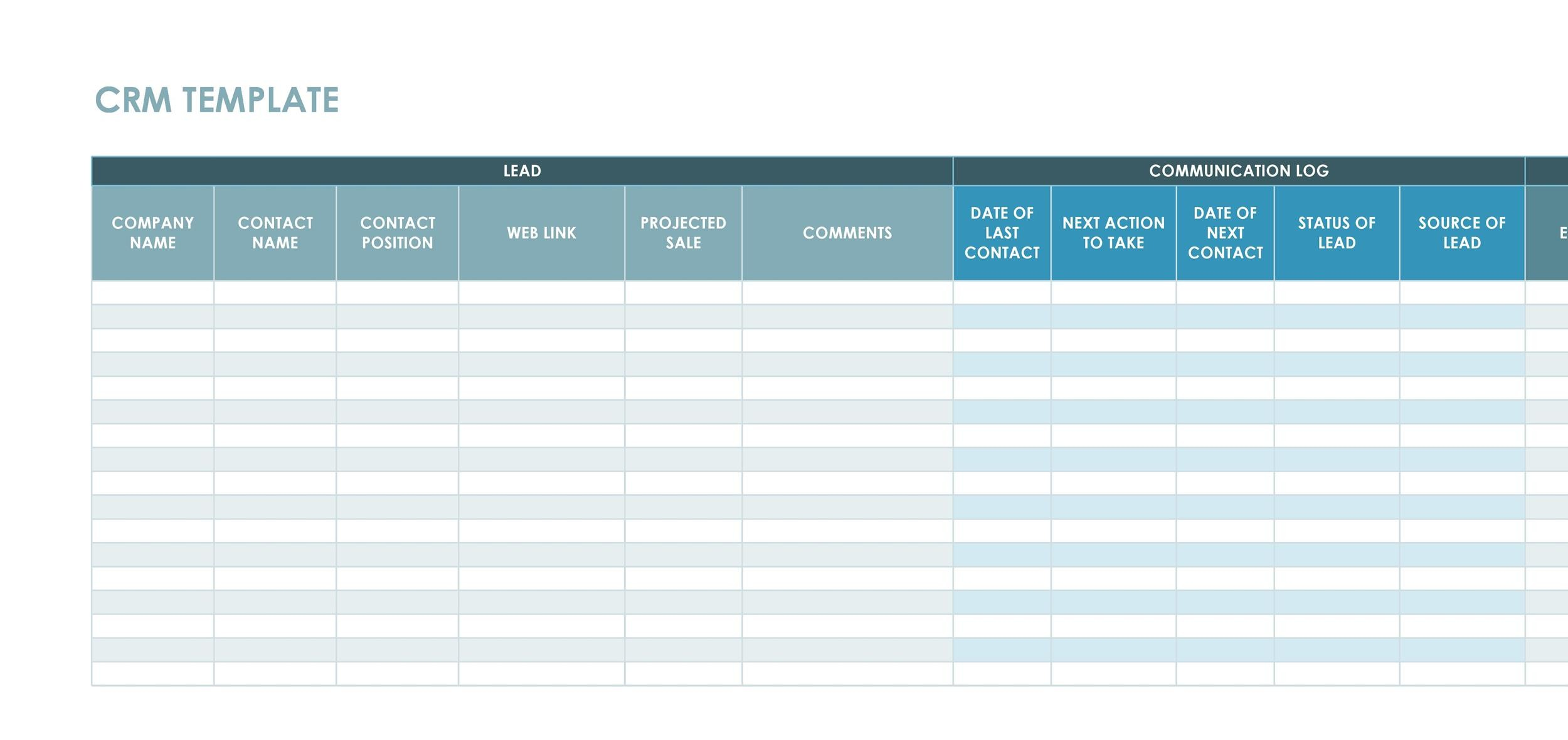 Free crm excel template 02