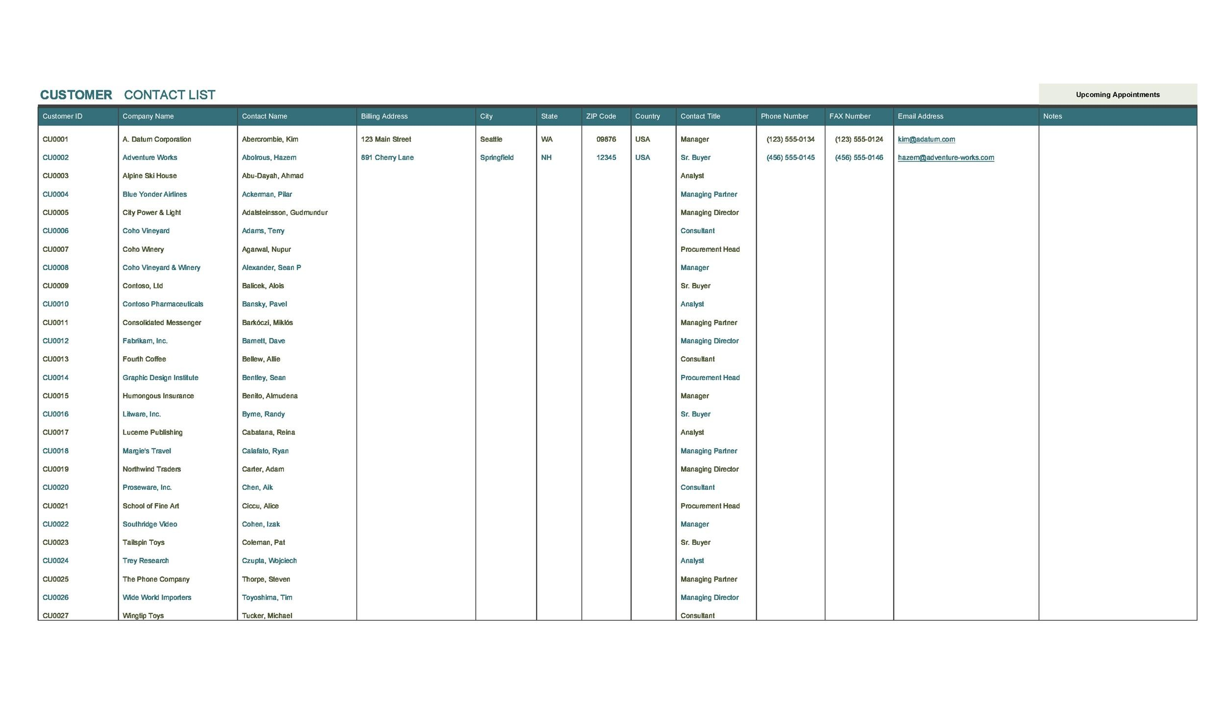 Free crm excel template 13