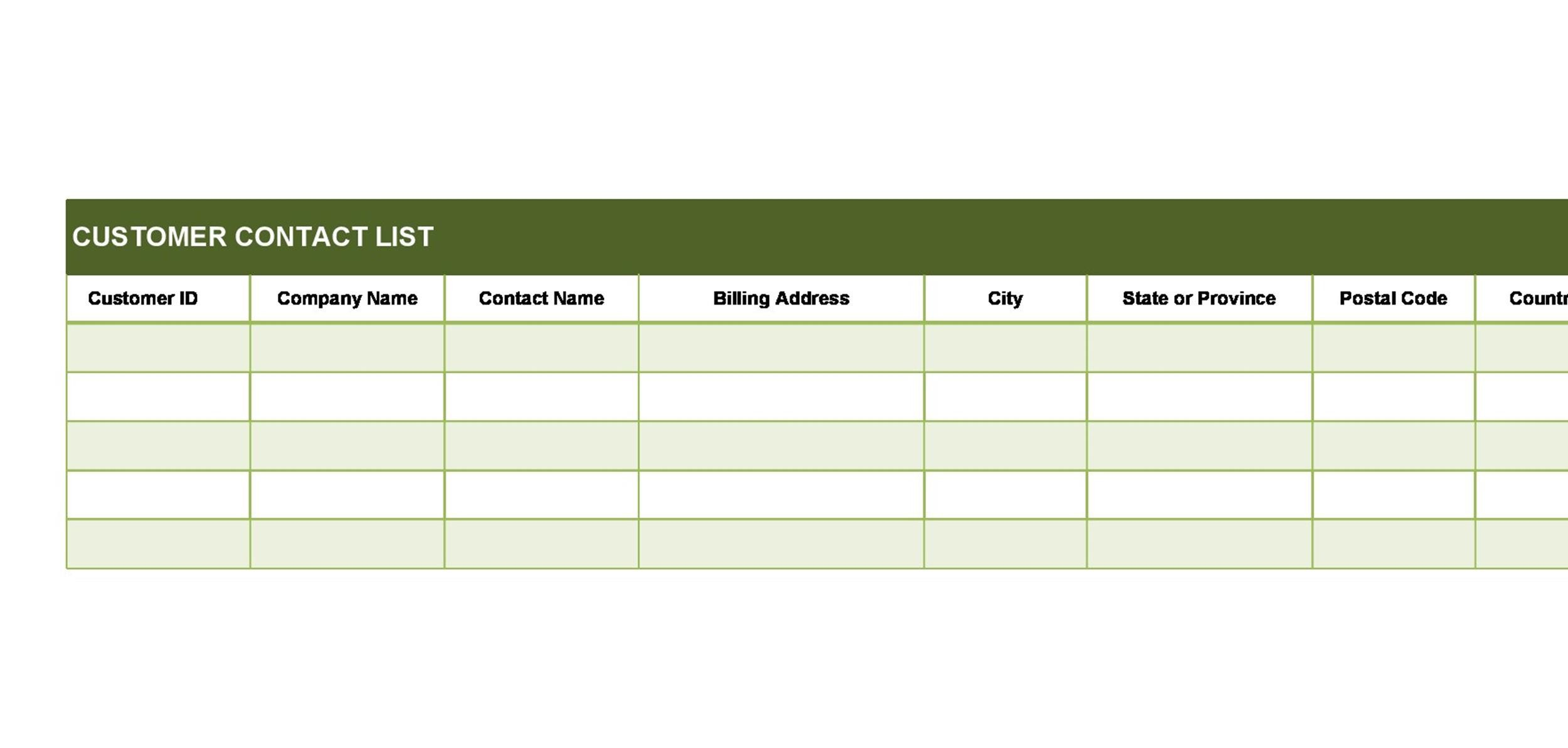 Free crm excel template 14