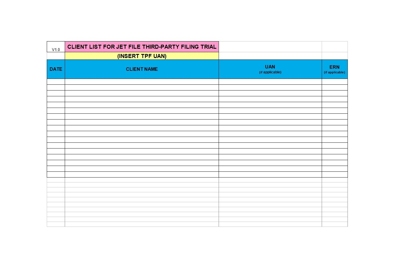 Free customer list template 18
