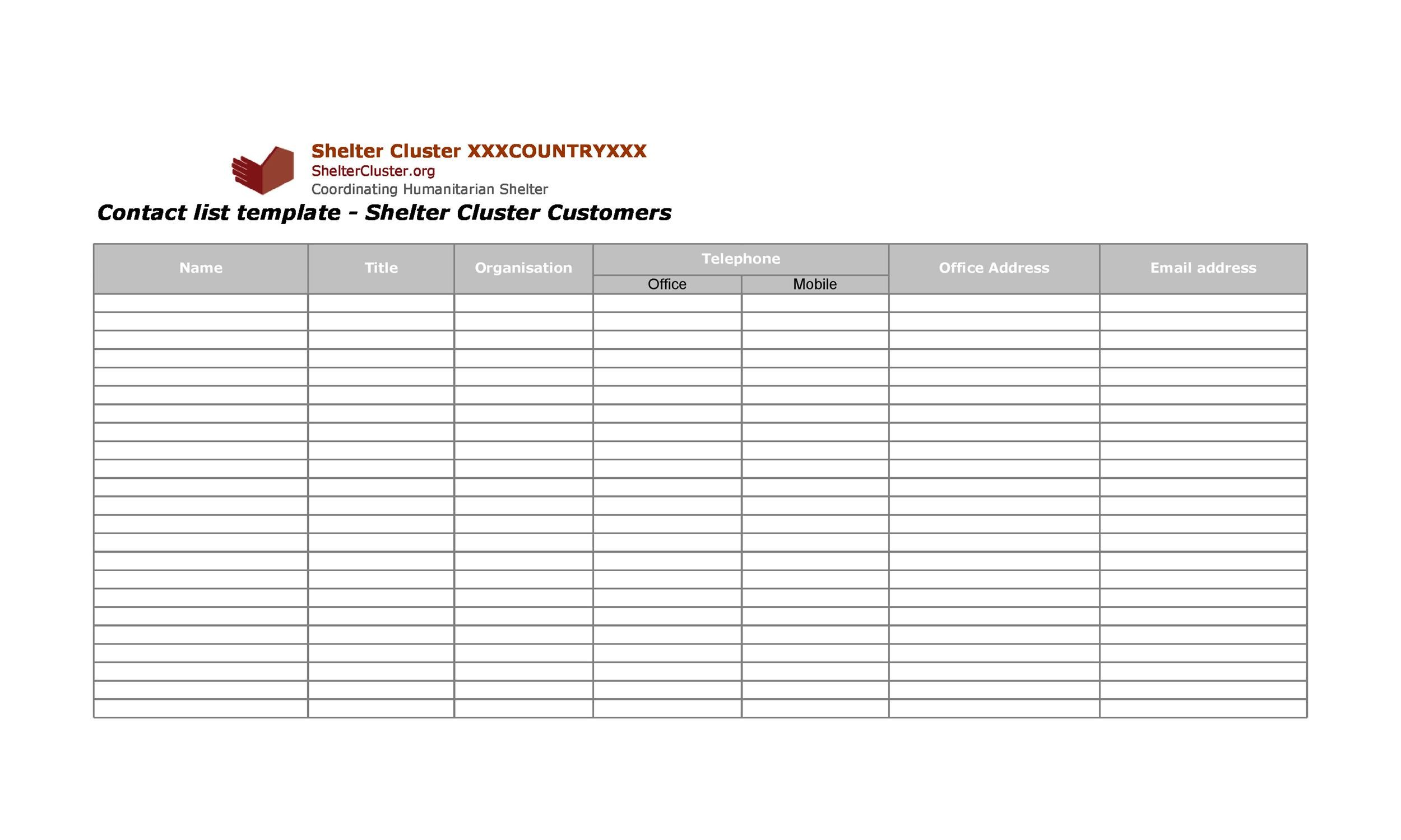 Free customer list template 46