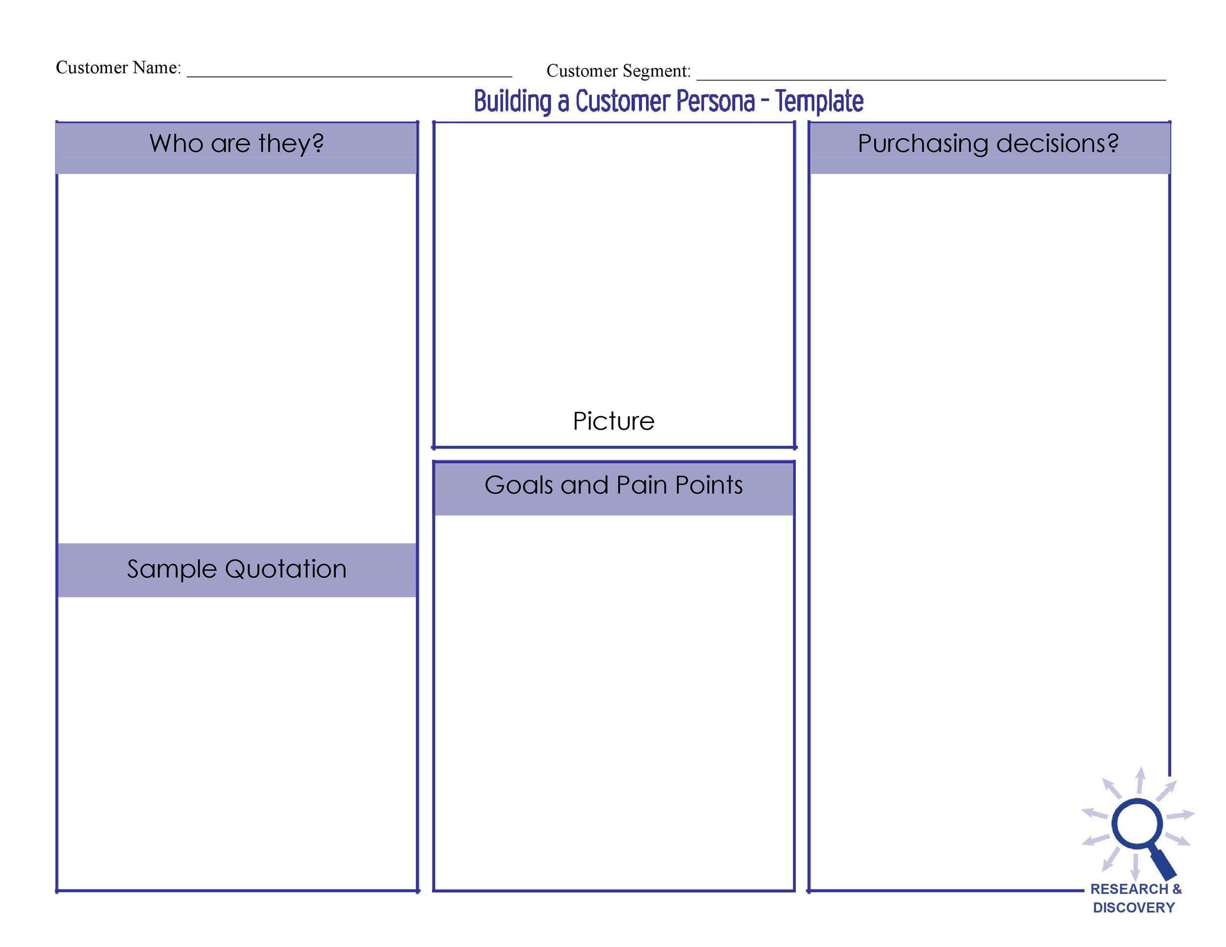 Free customer profile template 05