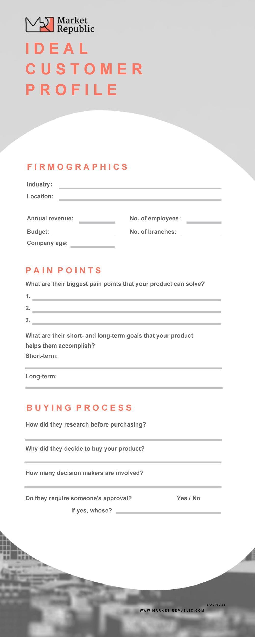 Free customer profile template 07