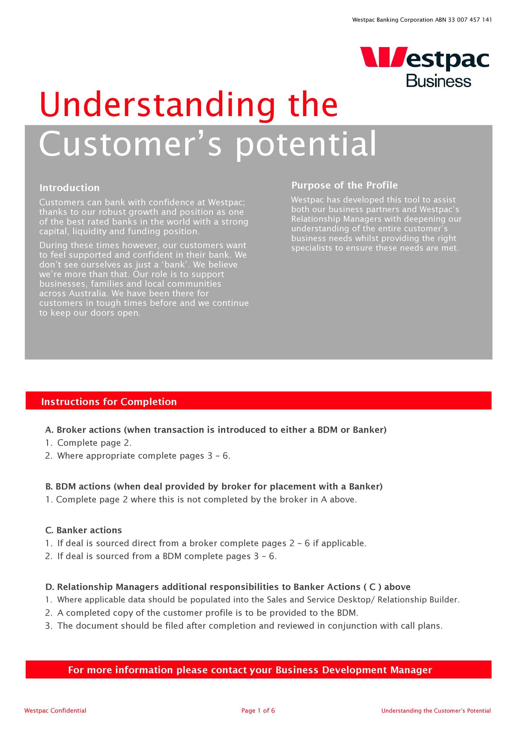 Free customer profile template 08