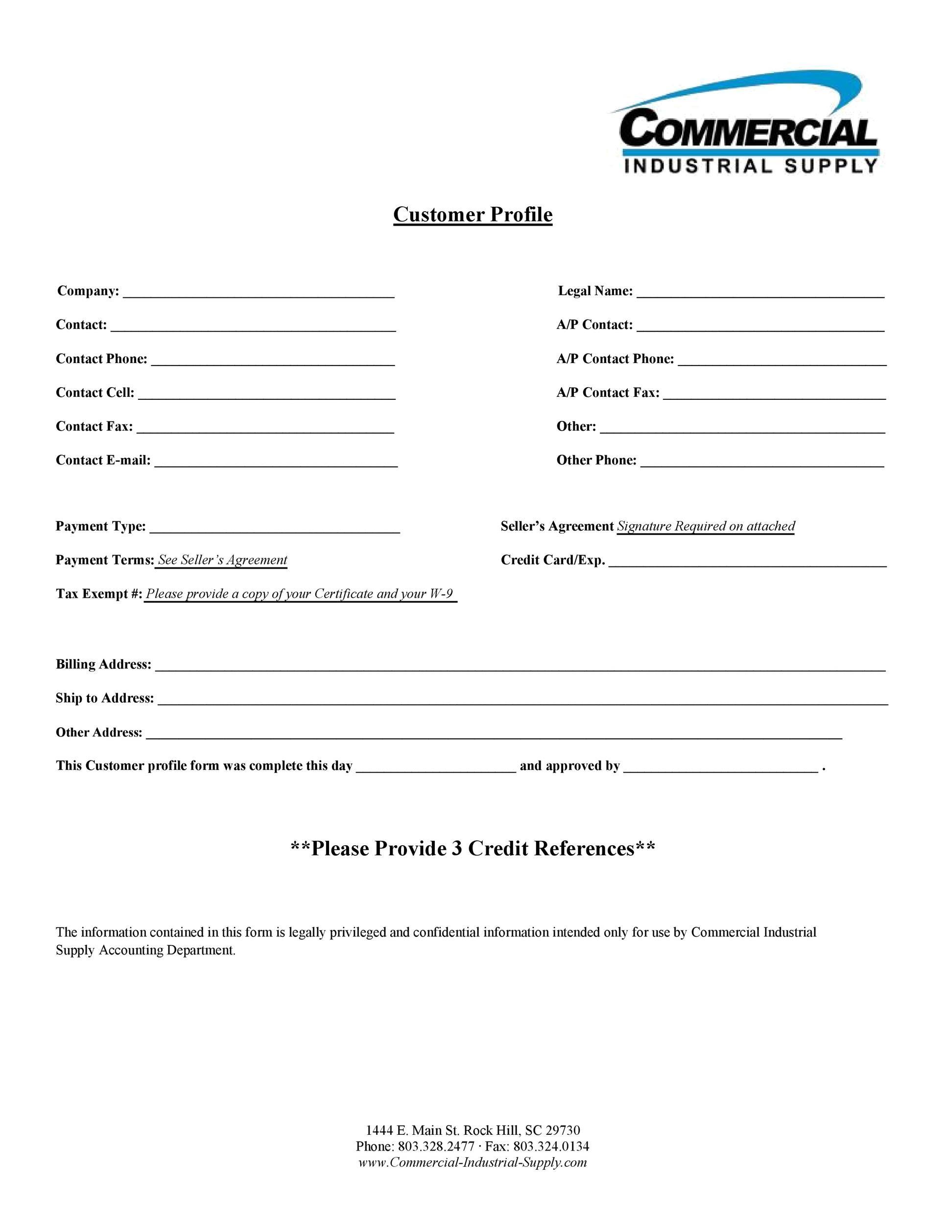 Free customer profile template 28