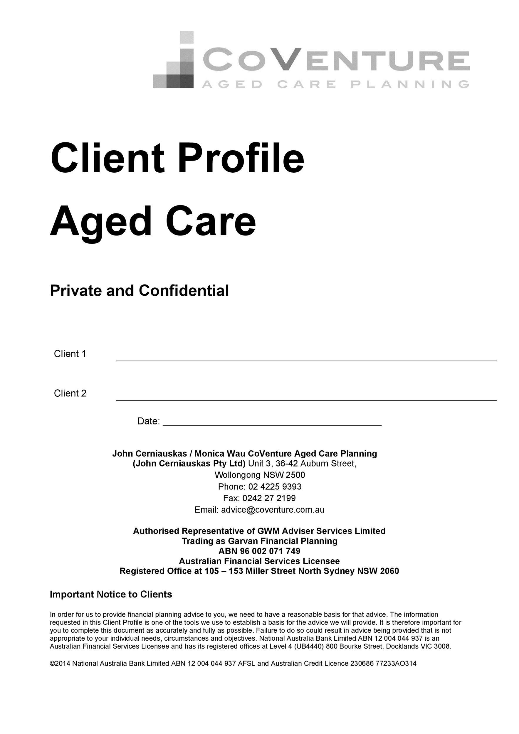Free customer profile template 34