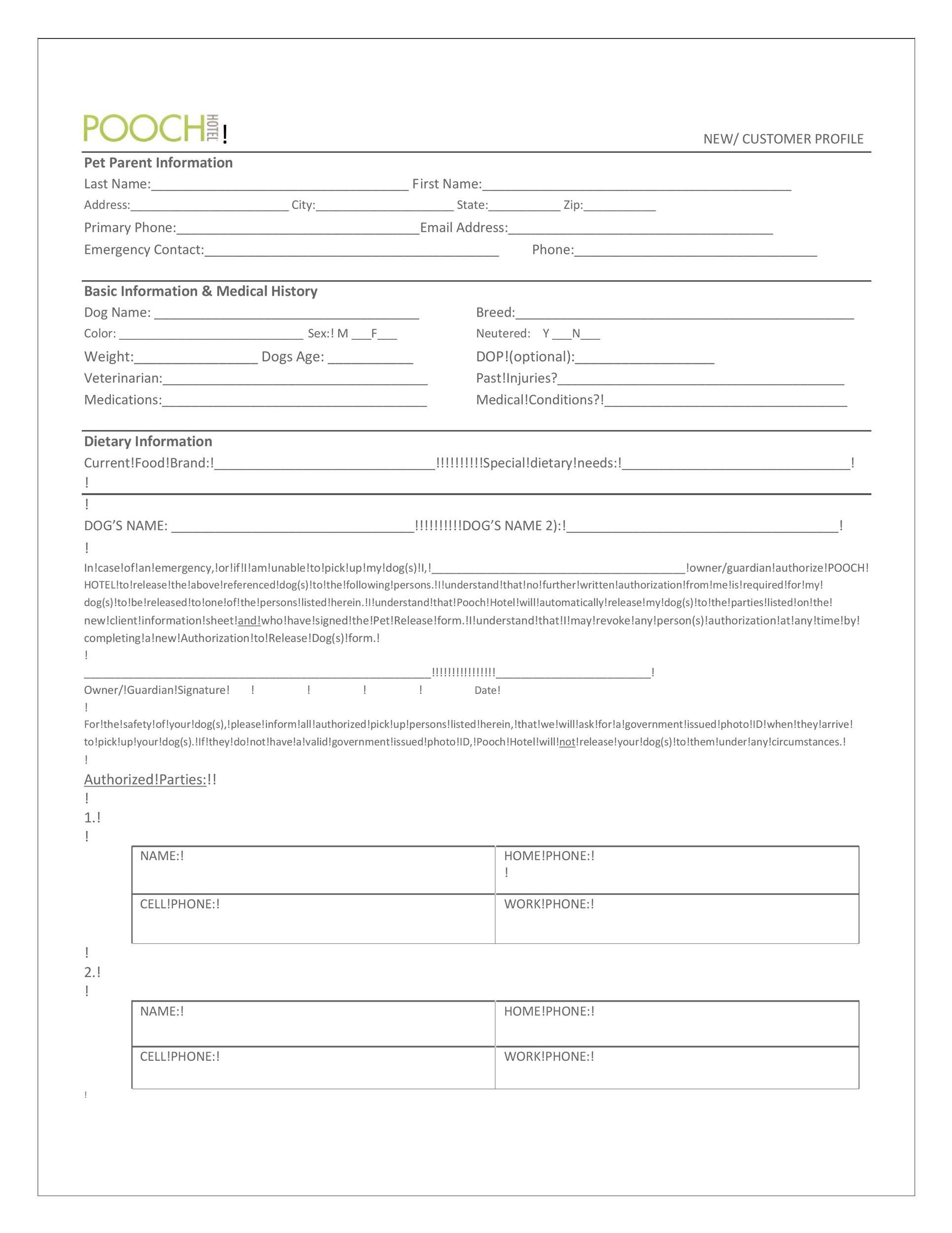 Free customer profile template 39