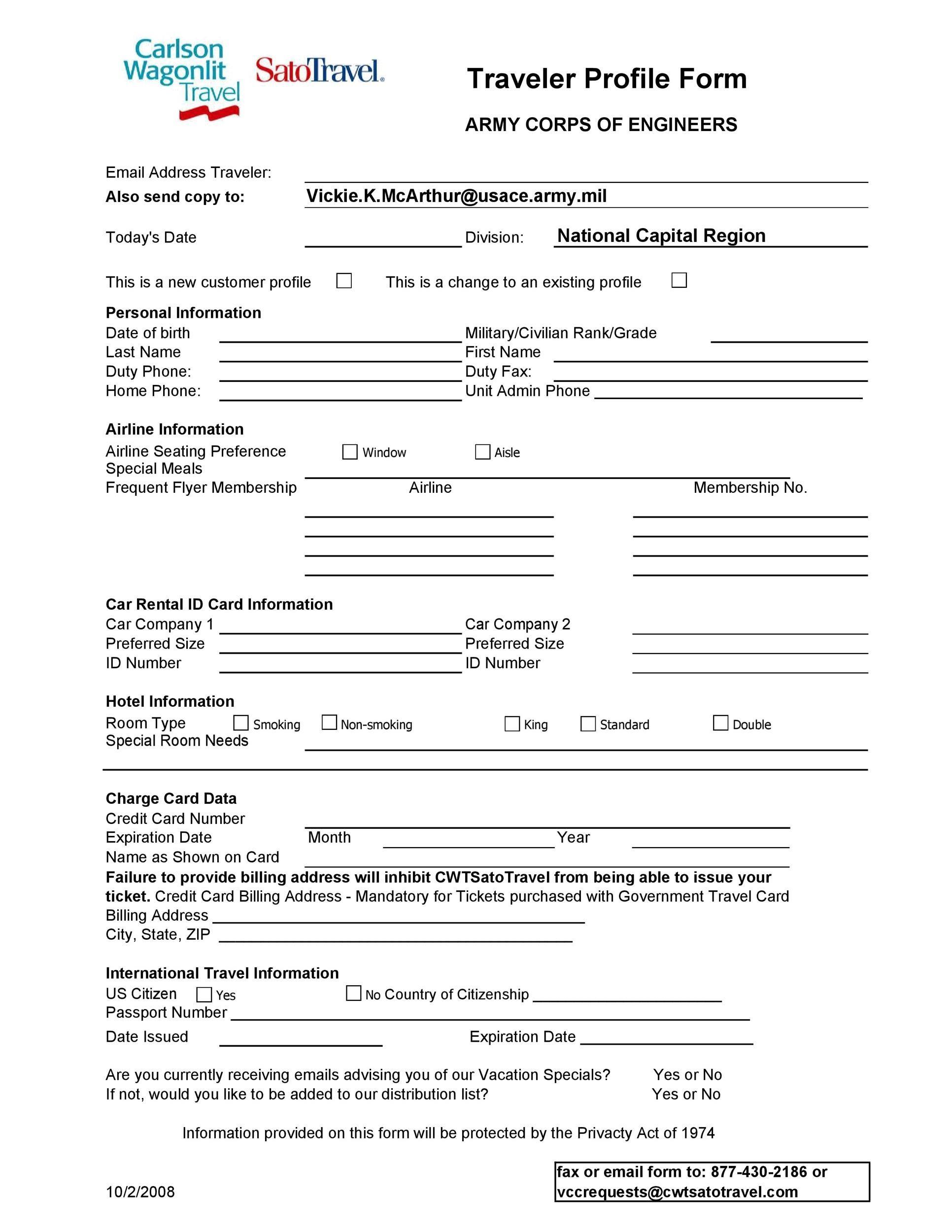 Free customer profile template 44